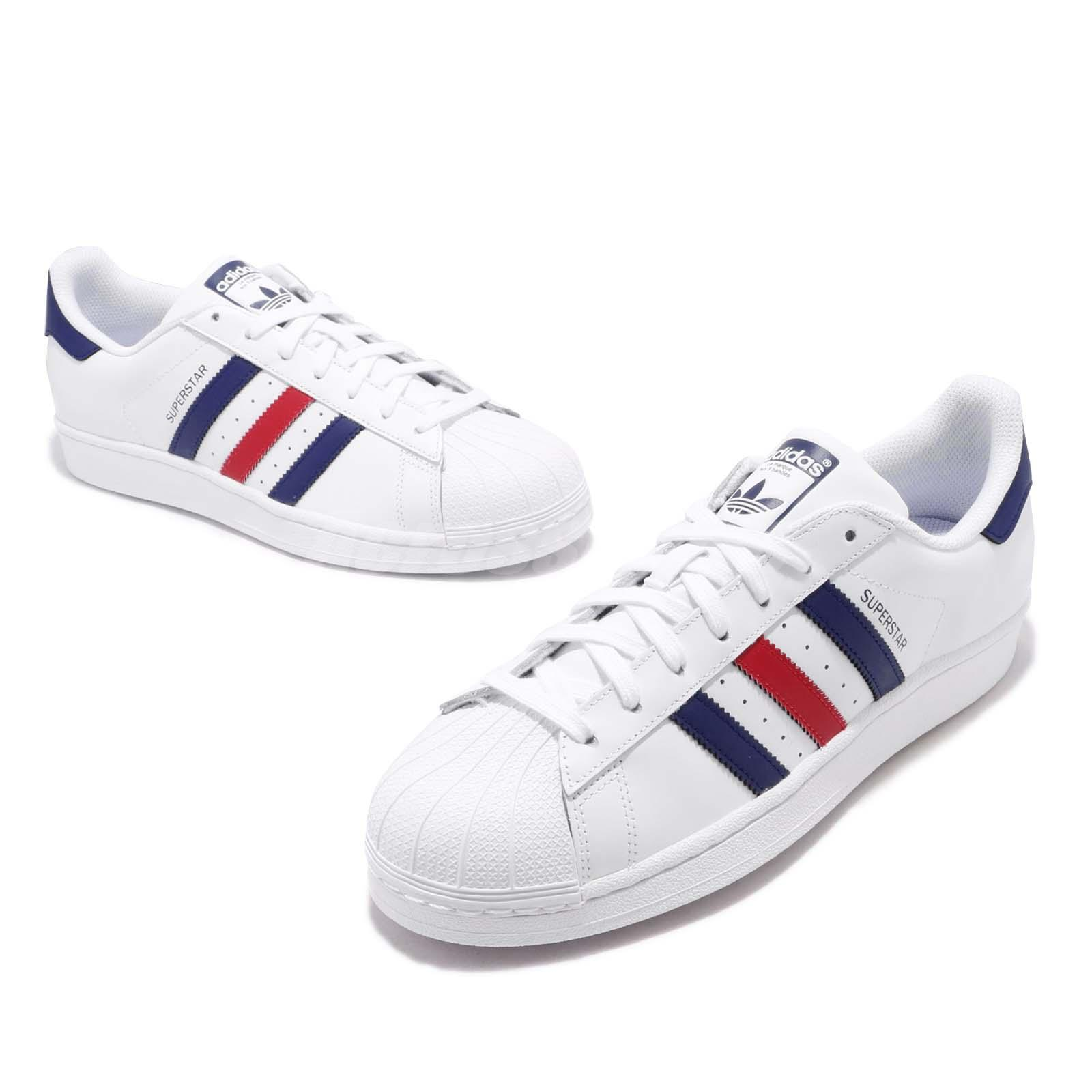 purchase cheap 0078b 3a4fd Details about adidas Originals Superstar FD White Blue Red Men Casual Shoes  Sneakers F36583
