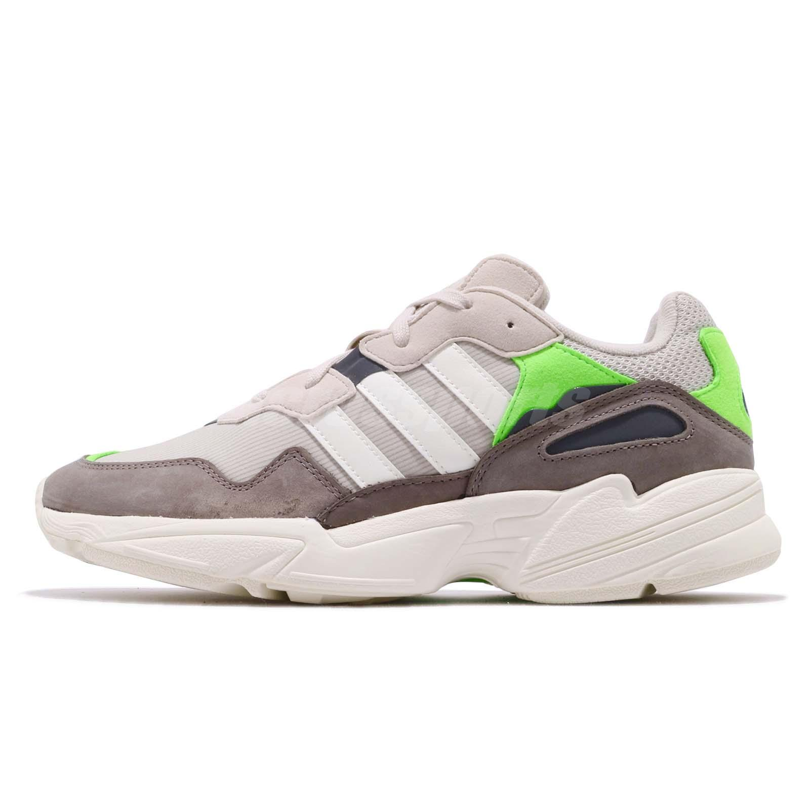 separation shoes 638b1 0b3c7 adidas Originals Yung-96 Solar Green Off White Grey Men Running Shoes F97182