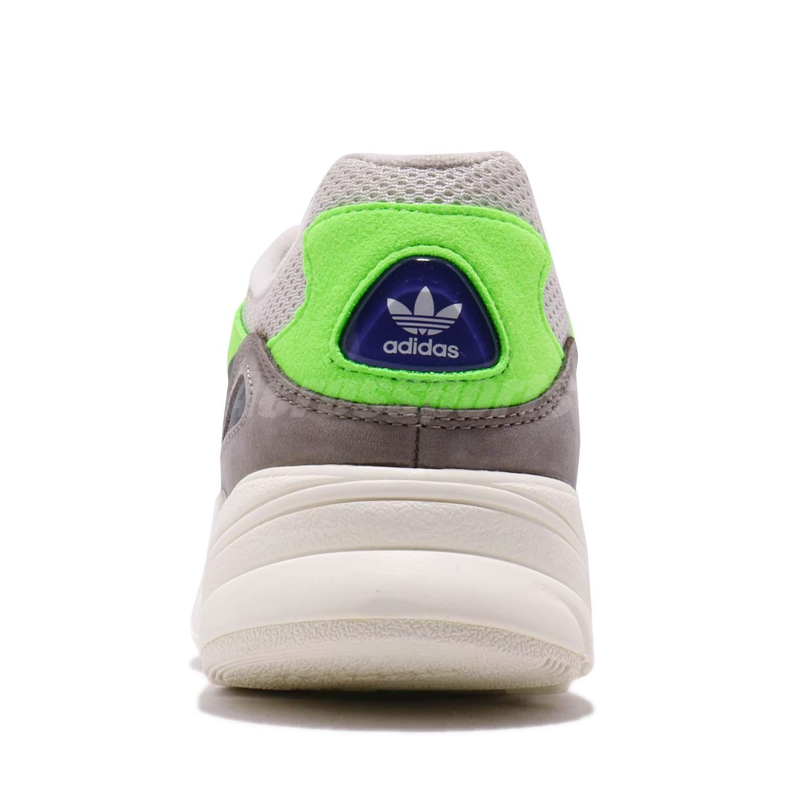 e8cd914cb8a4 adidas Originals Yung-96 Solar Green Off White Grey Men Running ...