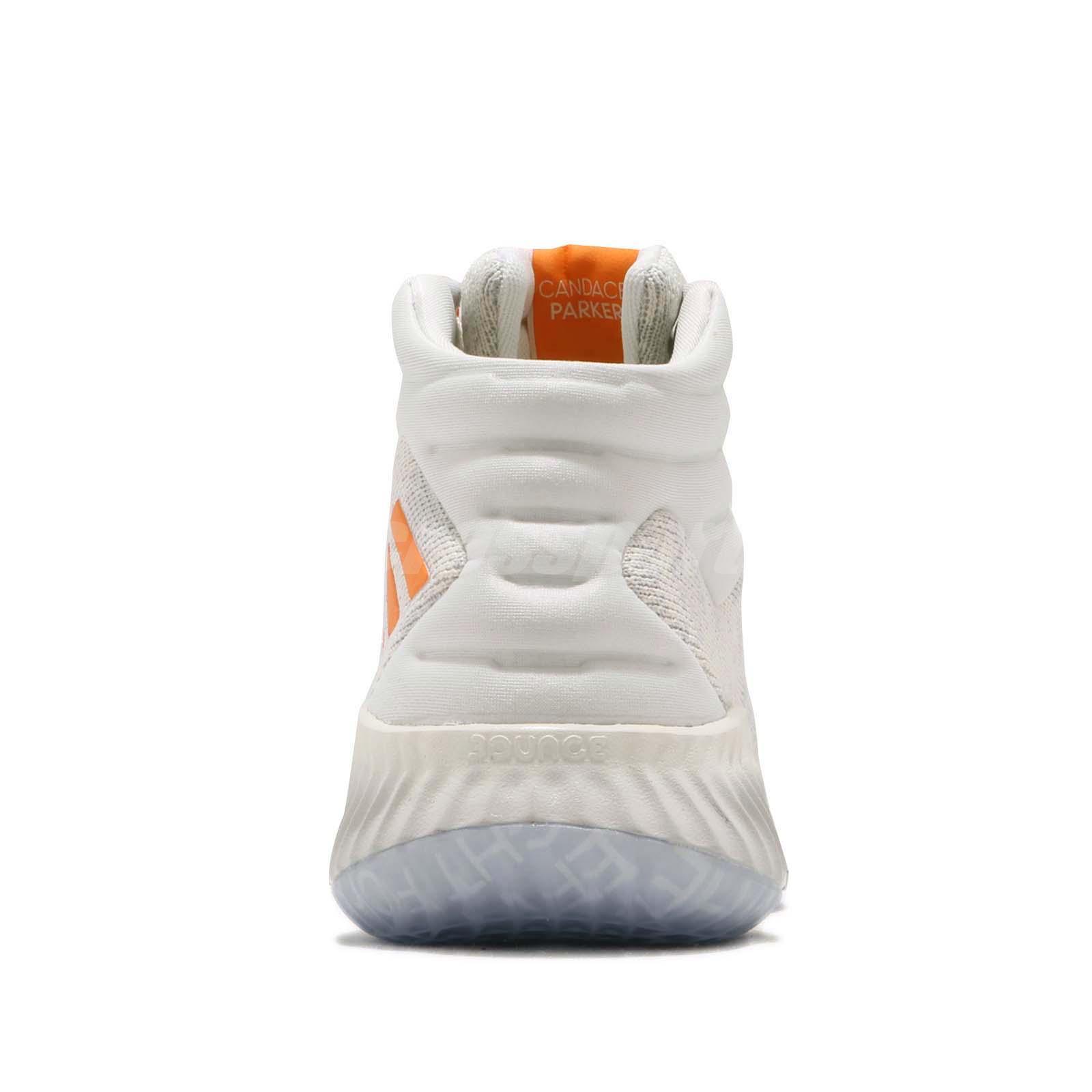 dd681efc22e5 Women s Shoes adidas PB Candace Parker Pro Bounce 18 Off White Orange Women  Basketball F97243