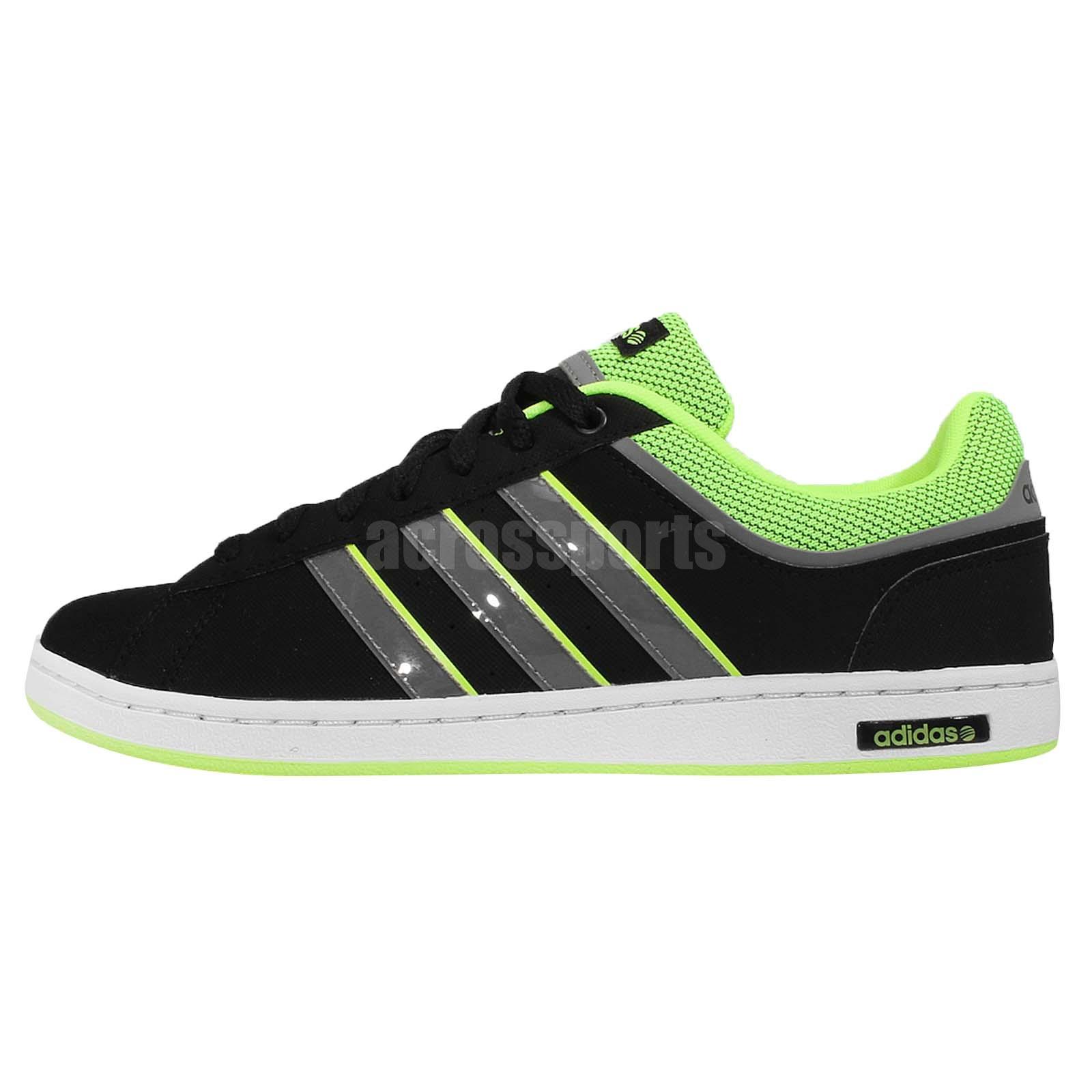 adidas neo label derby set black green mens casual shoes. Black Bedroom Furniture Sets. Home Design Ideas