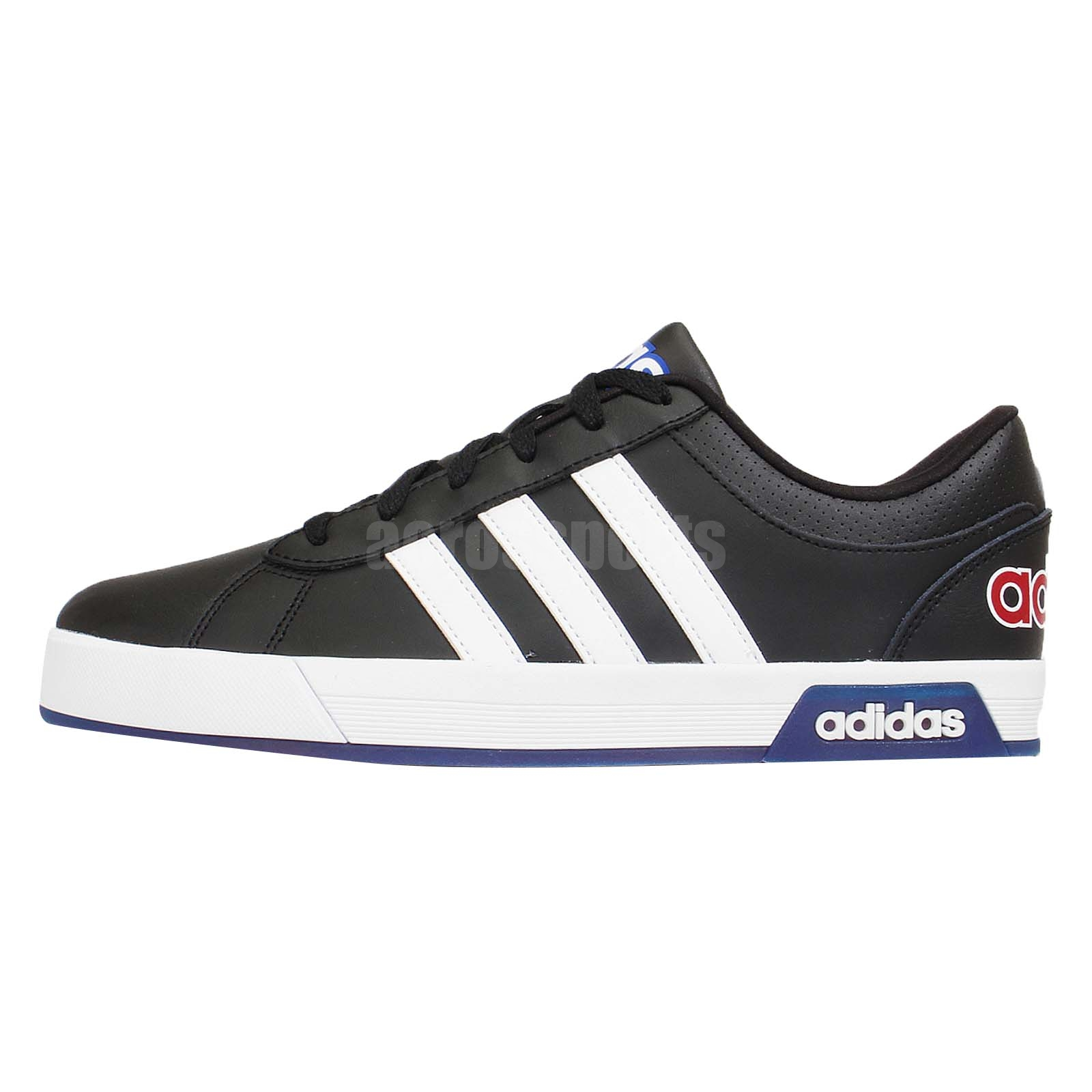 adidas neo label daily 9tis black red blue mens casual. Black Bedroom Furniture Sets. Home Design Ideas
