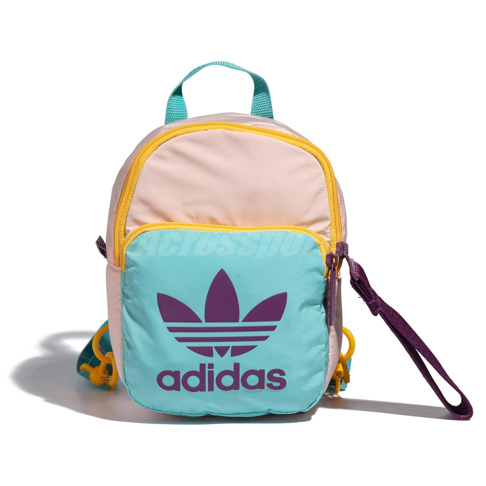 Details about adidas Mini Multi Color Blue Pink BP Backpack Small Women Kids Girl Bag FN3010