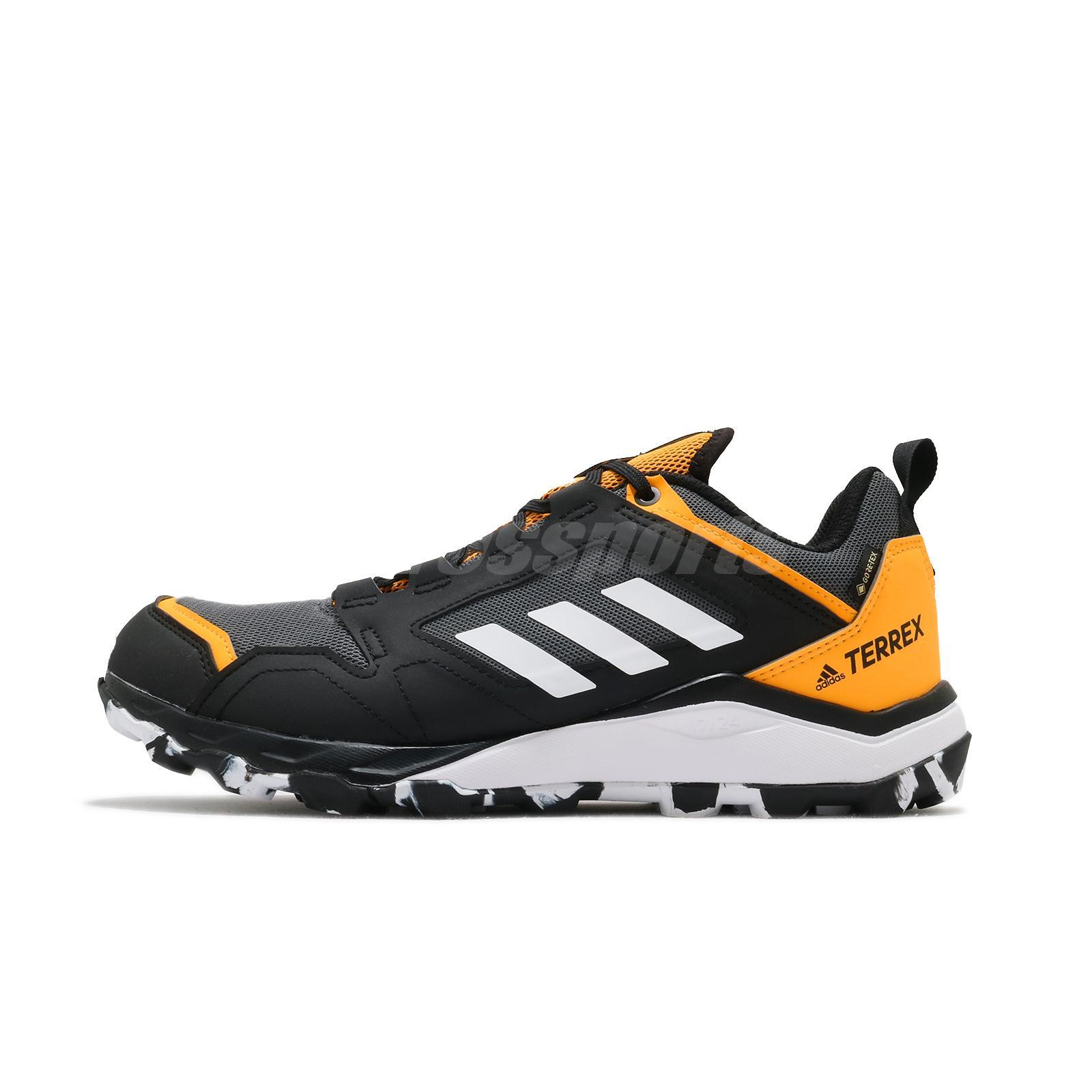 Details about adidas Terrex Agravic TR GTX Gore-Tex Grey Solar Gold Men  Trail Running FV2417