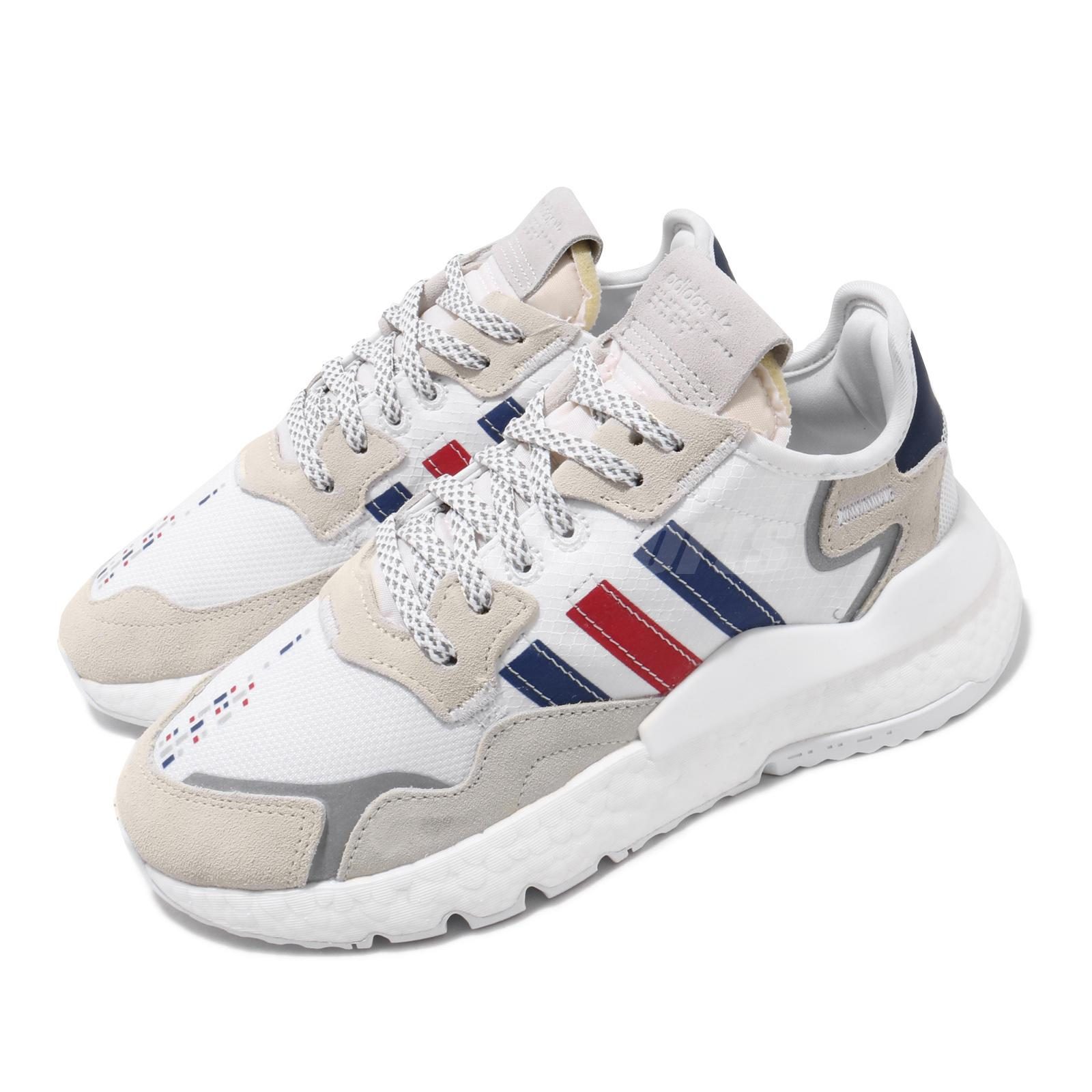 llegando diseño atemporal diseño elegante adidas Originals Nite Jogger BOOST White Royal Blue Red Men Casual Shoes  FV3586 | eBay