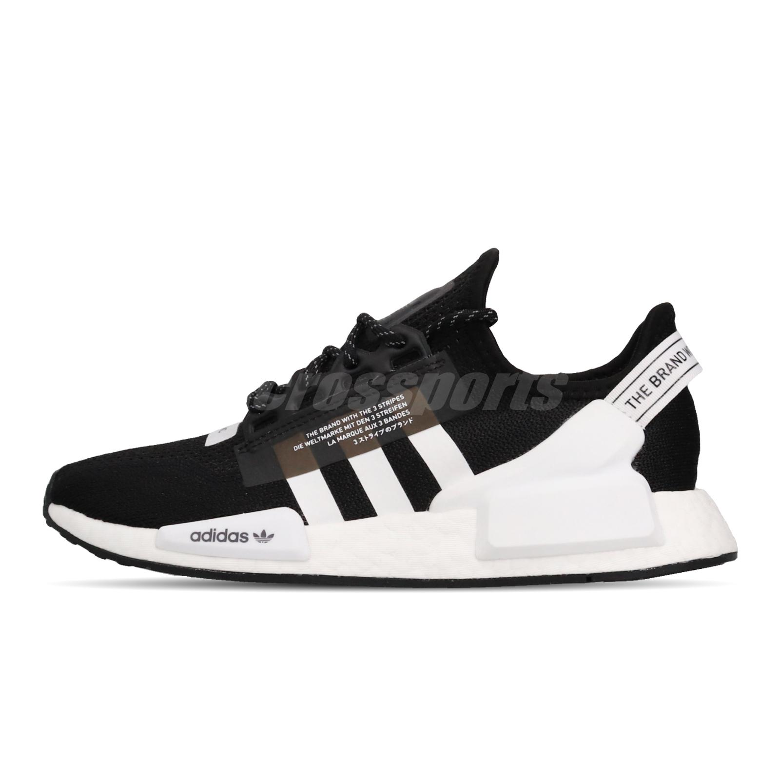Adidas Nmd R1 V2 Boost Black White Mens Womens Lifestyle Shoes Sneakers Fv9021 Ebay