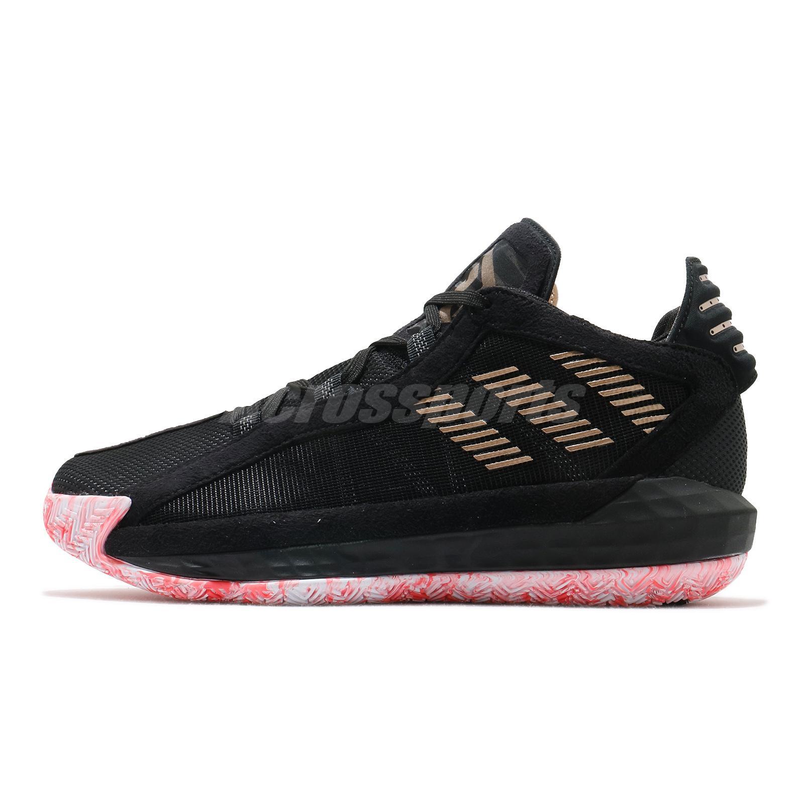 Adidas Dame 6 Gca Damian Lillard Black Pink Gold Men Basketball Shoes Fw9024 Ebay