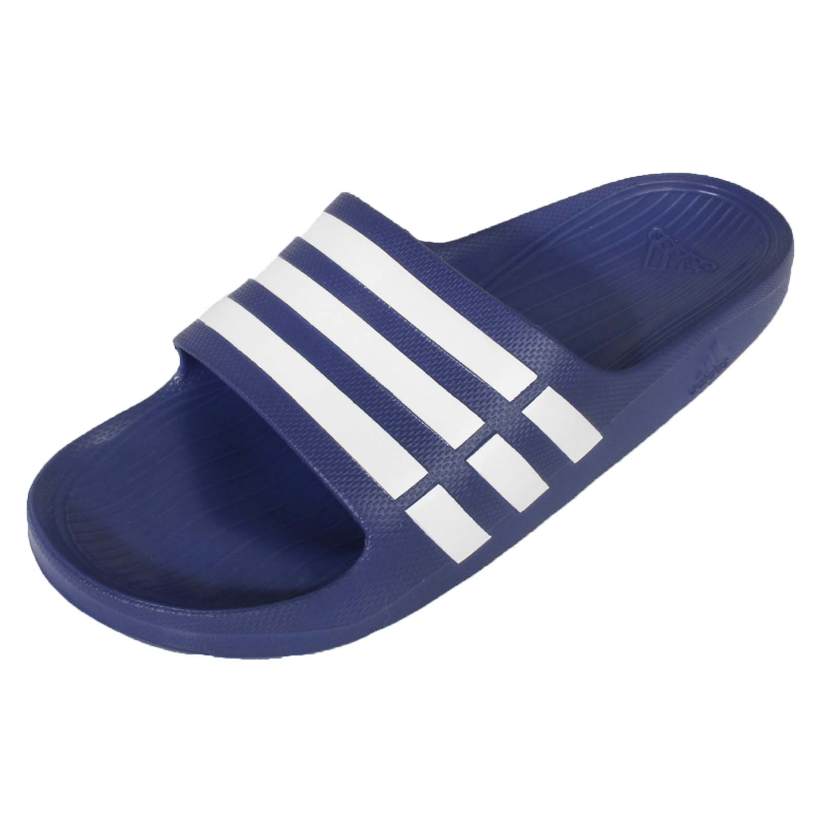 adidas Duramo Slide Navy Blue White Classic Mens Sports Slippers Sandals  G14309