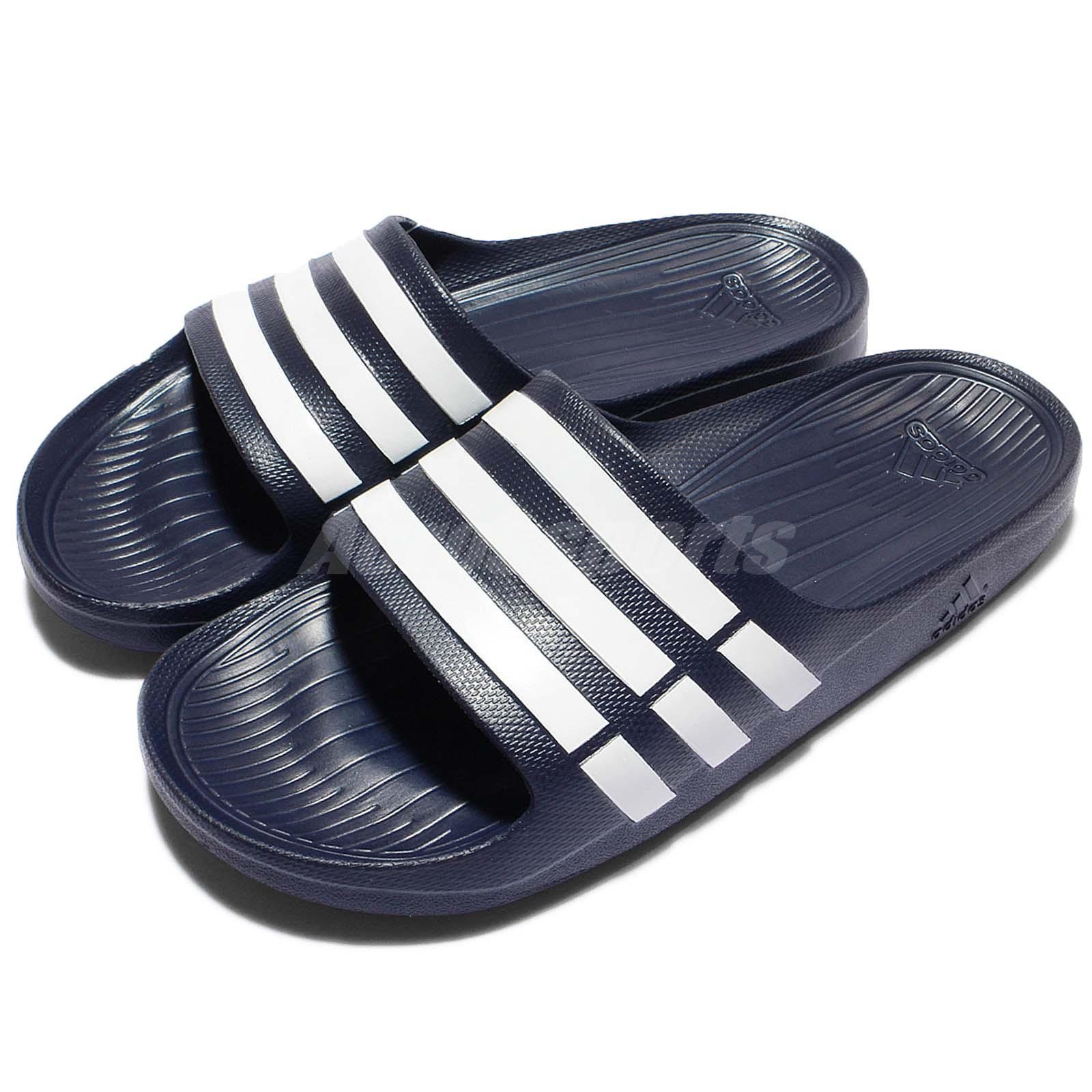 a7eb8b5019d9 Details about adidas Duramo Slide Navy White Mens Womens Sports Slide  Slippers Sandals G15892