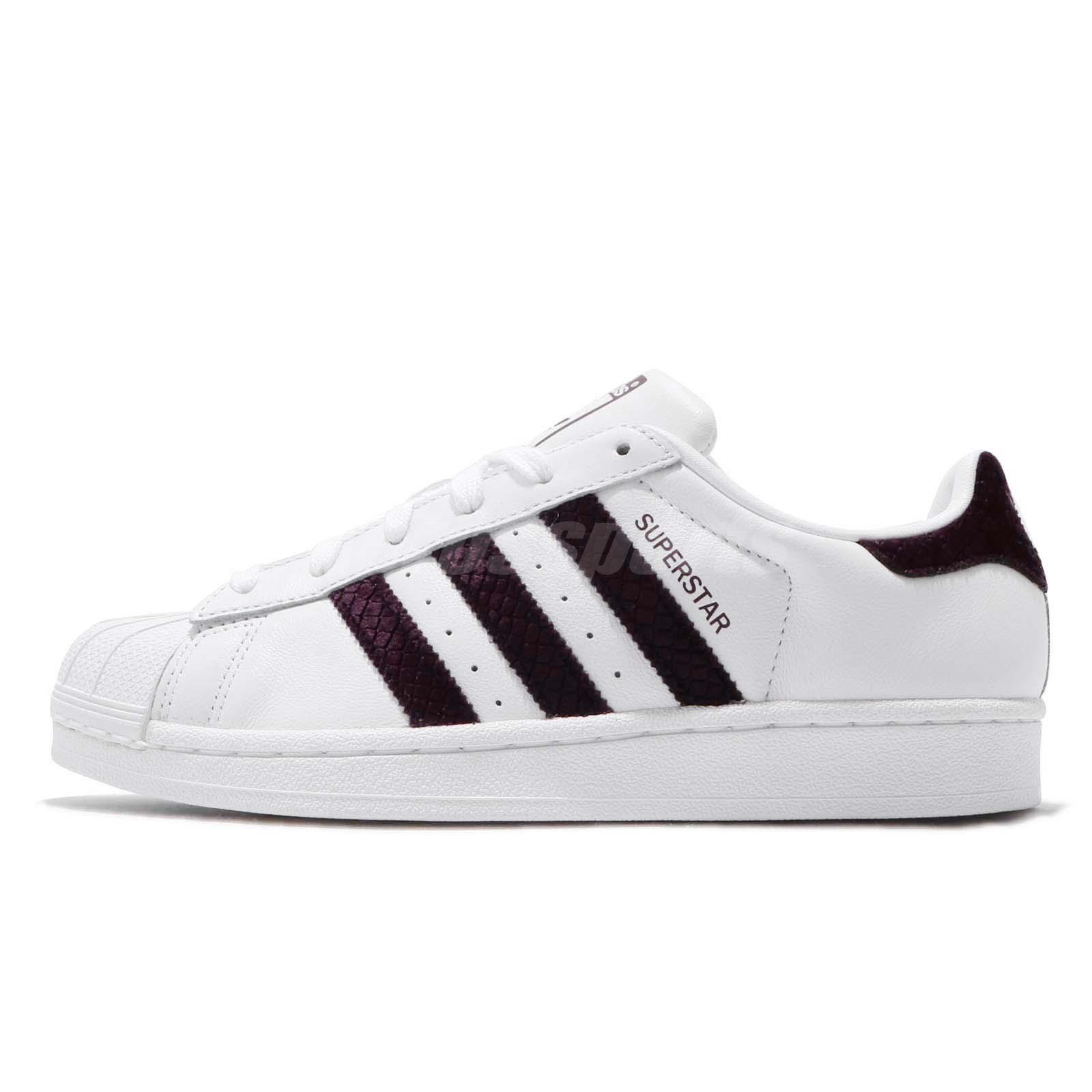 34d9562cb21f57 adidas Originals Superstar W White Red Night Women Classic Casual Shoes  G26000