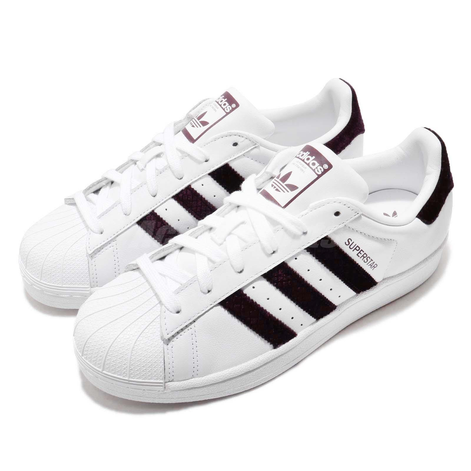 release date: 3c4a5 98c69 Details about adidas Originals Superstar W White Red Night Women Classic  Casual Shoes G26000