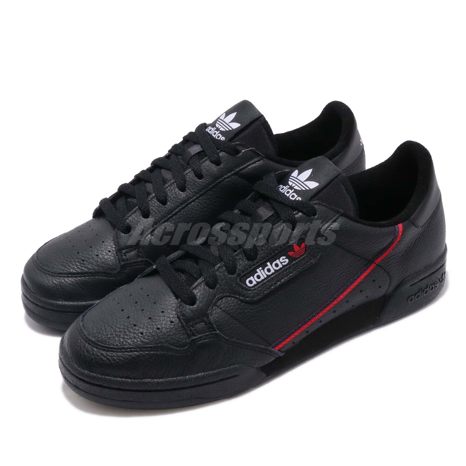 the latest 97084 9271a Details about adidas Originals Continental 80 Black Scarlet Men Classic  Casual Shoes G27707