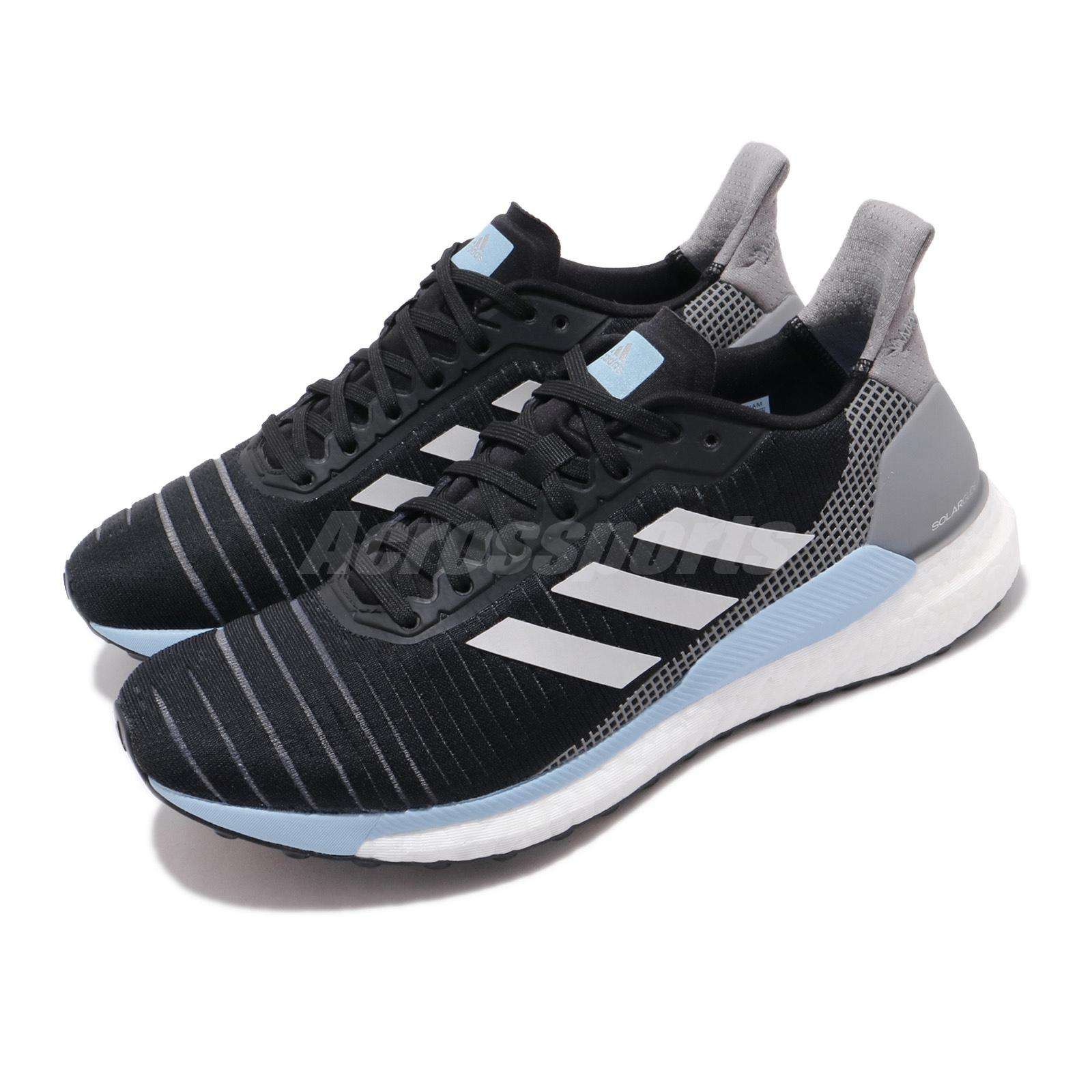 Accesible compensar origen  adidas Solar Glide 19 W Boost Black Grey Blue White Women Running Shoes  G28038 | eBay