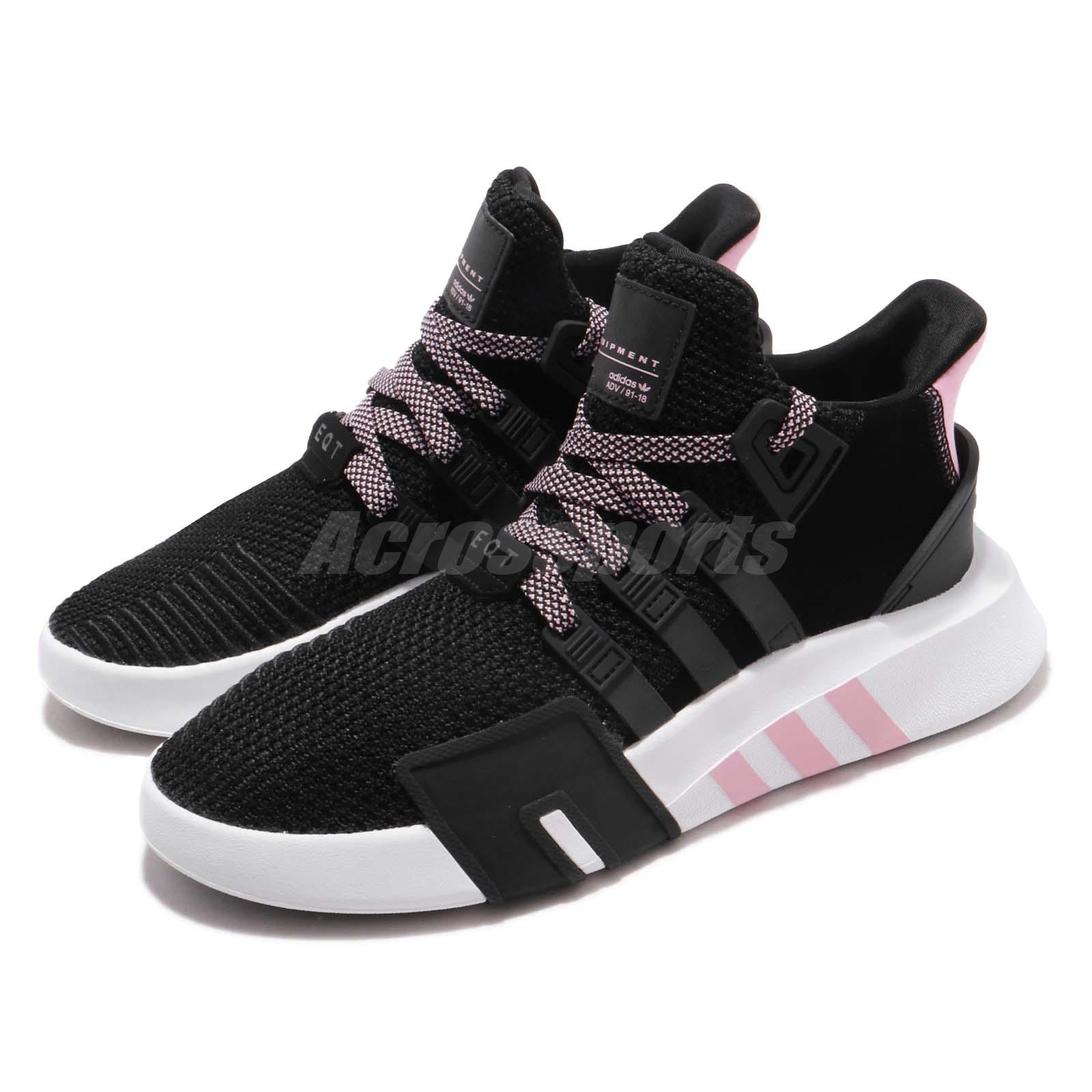 new concept 99966 522f7 Details about adidas Originals EQT Bask ADV W Boost Black Pink White Women  Running Shoe G54480