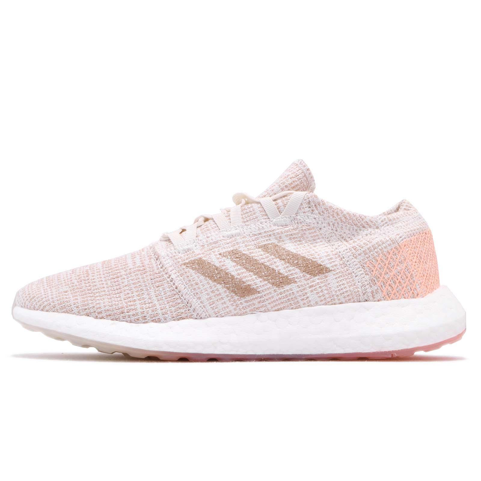 2a69cb3f4 adidas PureBOOST GO W Pink Orange White Women Running Shoes Sneakers G54519