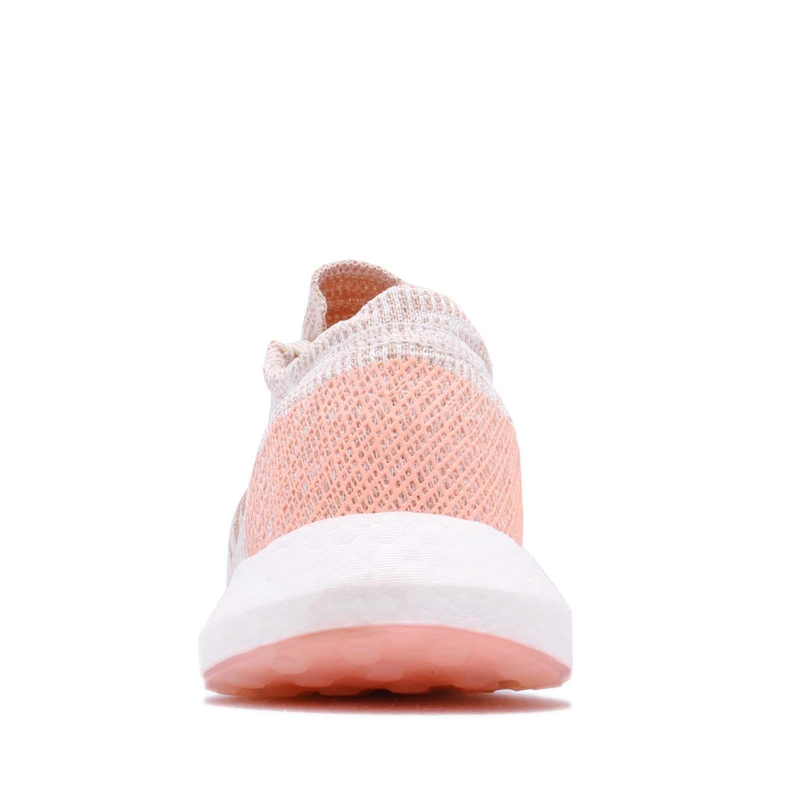 900681eee adidas PureBOOST GO W Pink Orange White Women Running Shoes Sneakers ...
