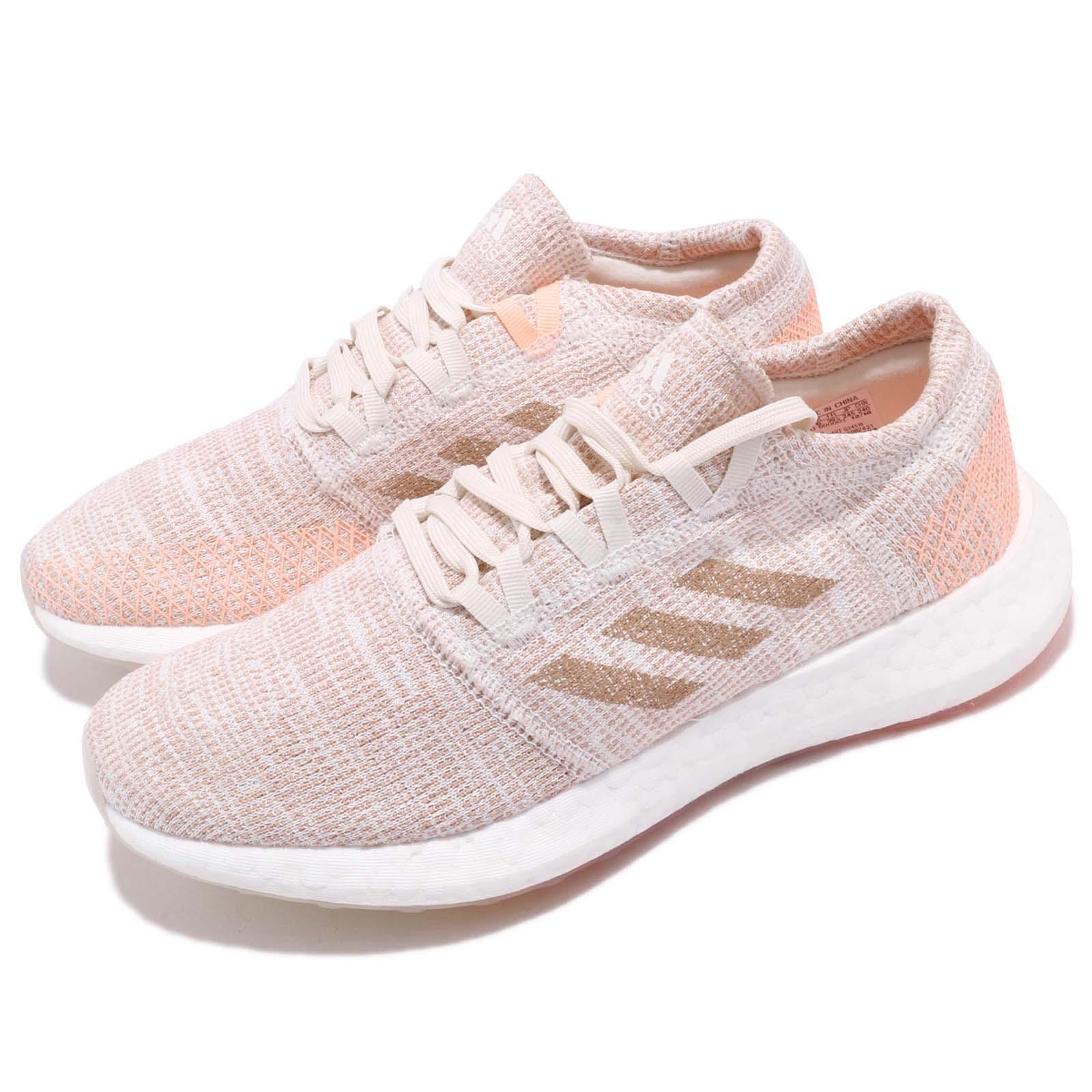 Details about adidas PureBOOST GO W Pink Orange White Women Running Shoes Sneakers G54519