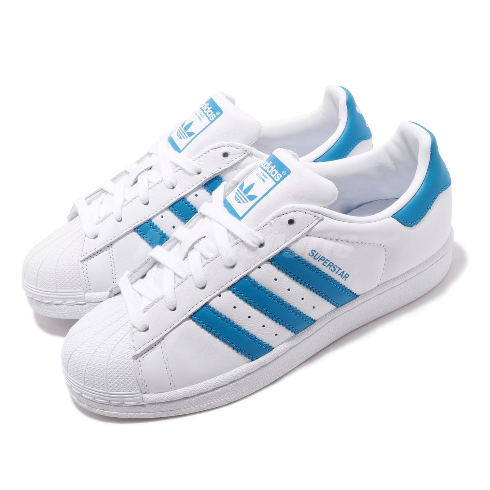 blue superstar adidas shoes