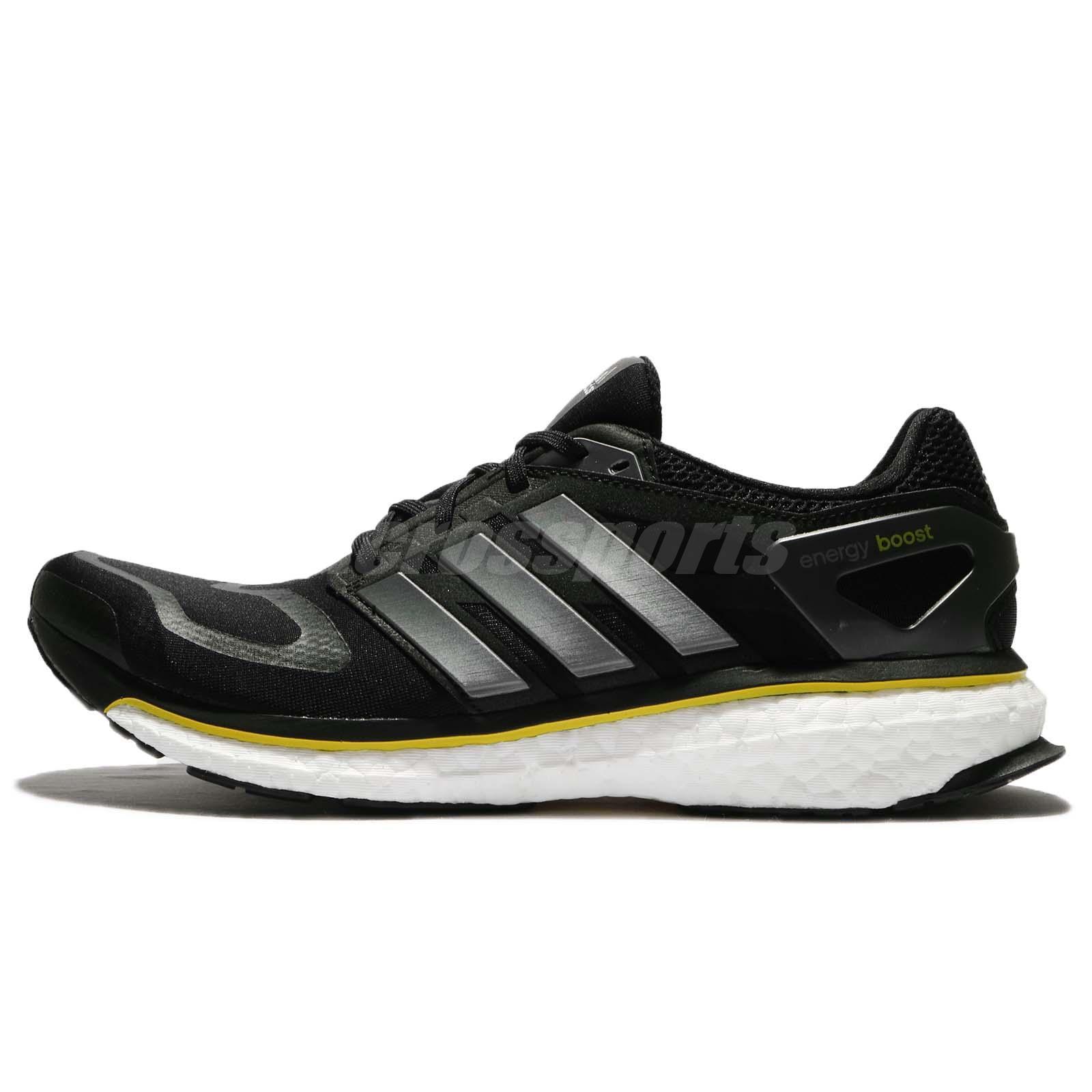 3ce0cd459ba adidas Energy BOOST M OG Retro 2018 Black Yellow White Men Running Shoes  G64392