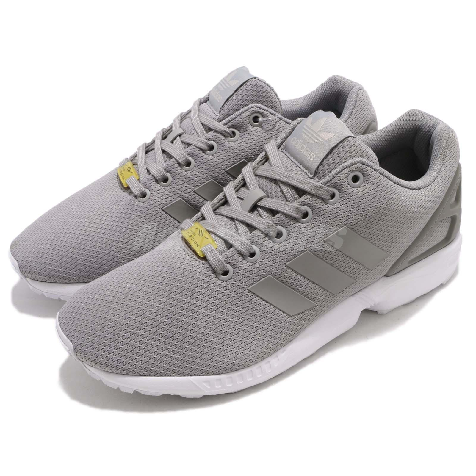 huge selection of c0278 ec92b Details about adidas Originals ZX Flux Grey White Mens Running Shoes  Sneakers Trainers M19838