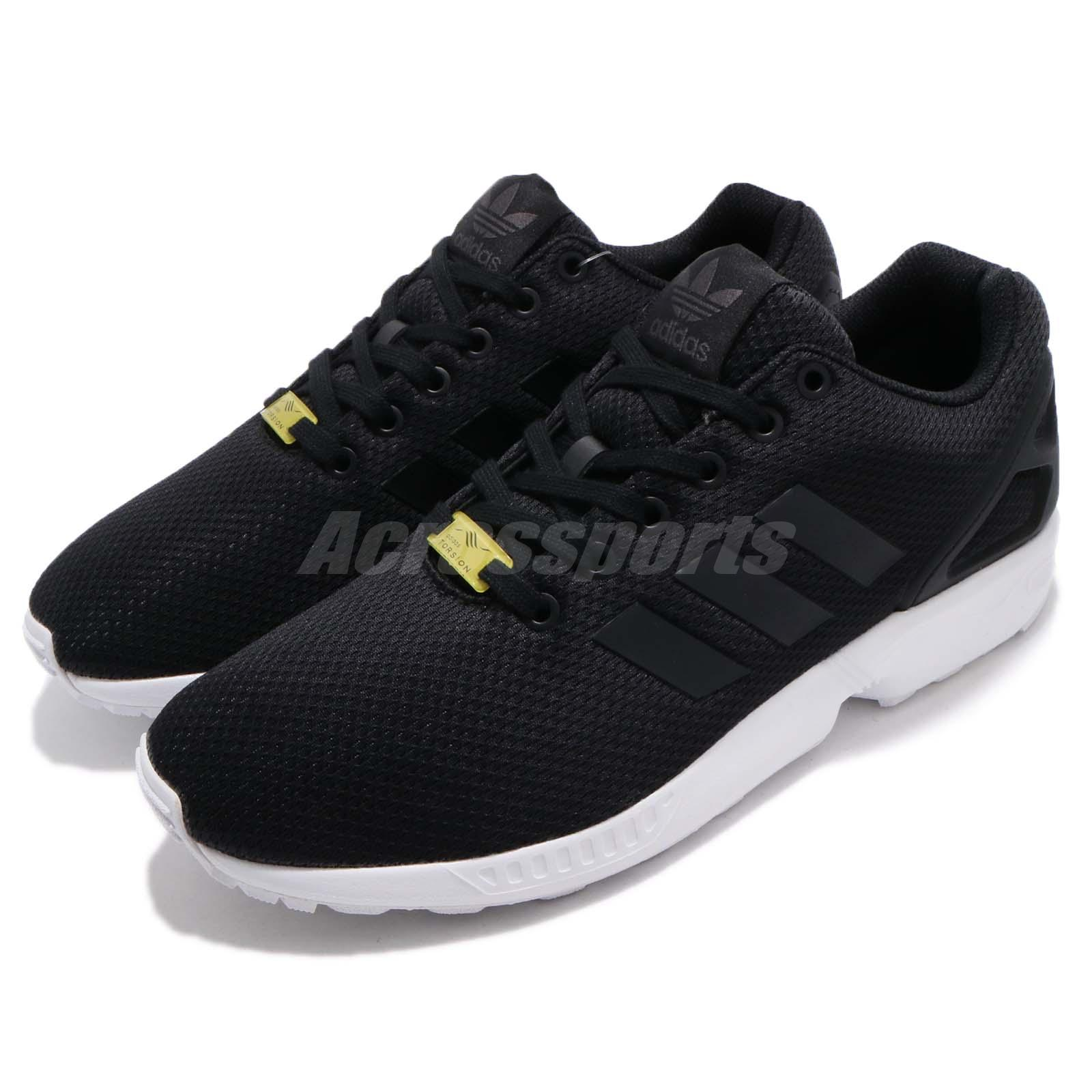 099e84be6 Details about adidas Originals ZX Flux Black White Men Fashion Running Shoes  Sneakers M19840