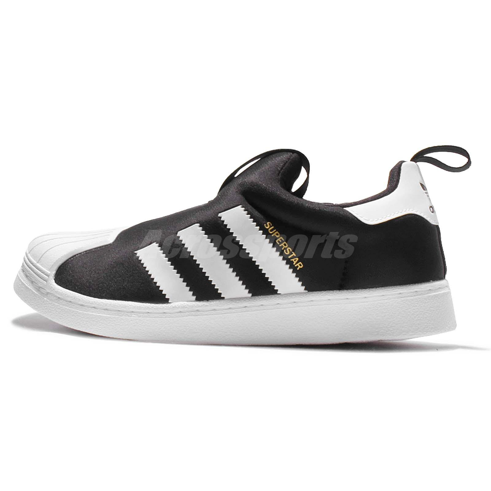 a6365e13f65 adidas Originals Superstar 360 C Black White Kid Preschool Slip On Shoes  S32130
