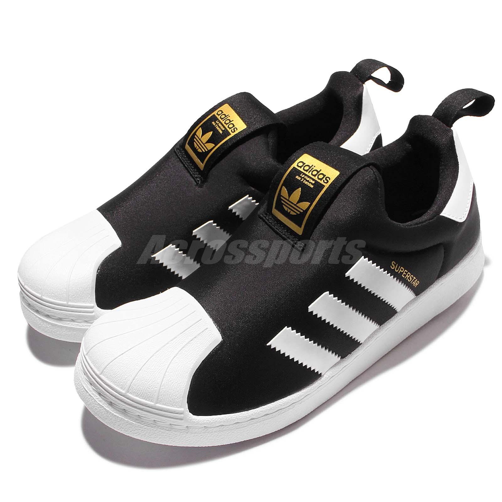 Details about adidas Originals Superstar 360 C Black White Kid Preschool  Slip On Shoes S32130 263f8d6362c