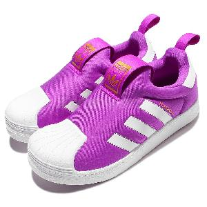 half off facd6 3cdb9 adidas superstar slip on kids purple