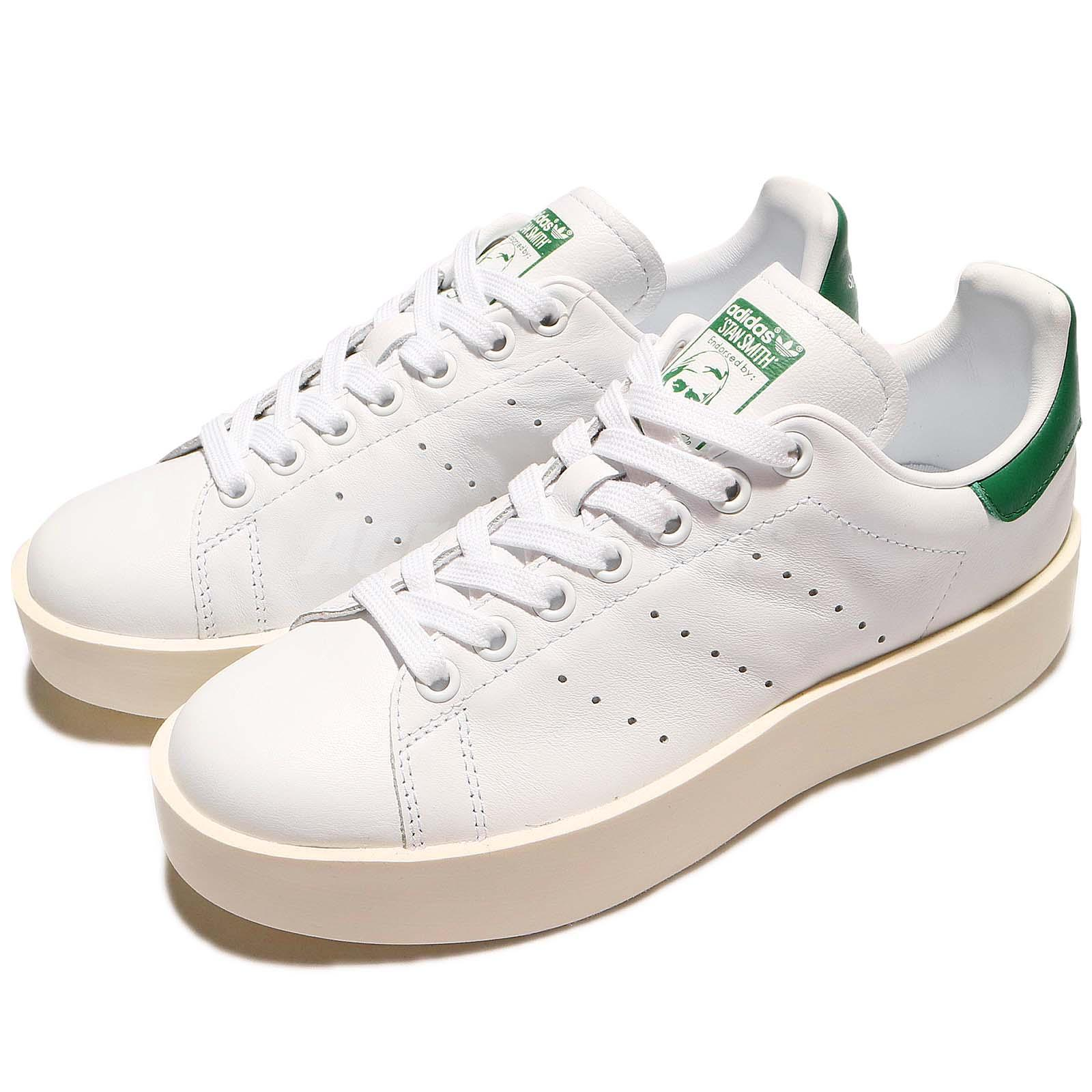 adidas Originals Stan Smith Bold W Platform White OG Green Leather ... ebc8c0abf9a4c