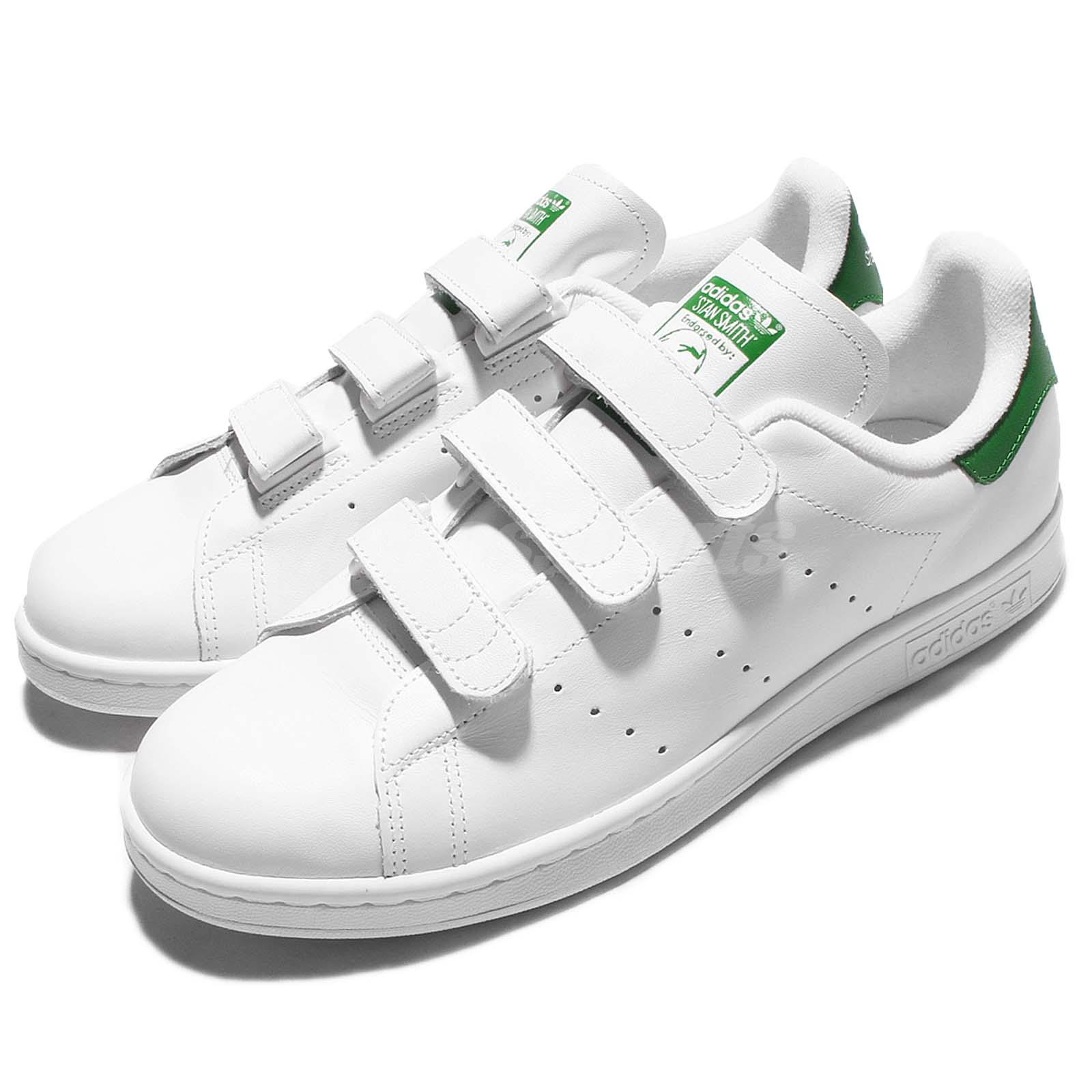 the best attitude 30989 3cd58 Details about adidas Originals Stan Smith CF White Green Mens Srap Shoes  Sneakers S75187