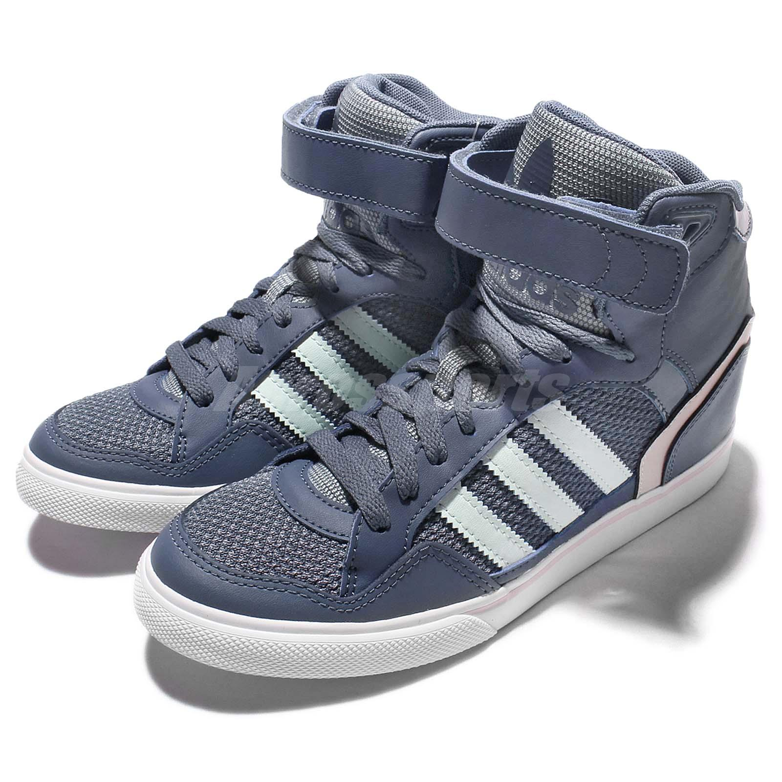 Adidas Originals S3 Extaball W Purple White Womens Wedges Casual Shoes