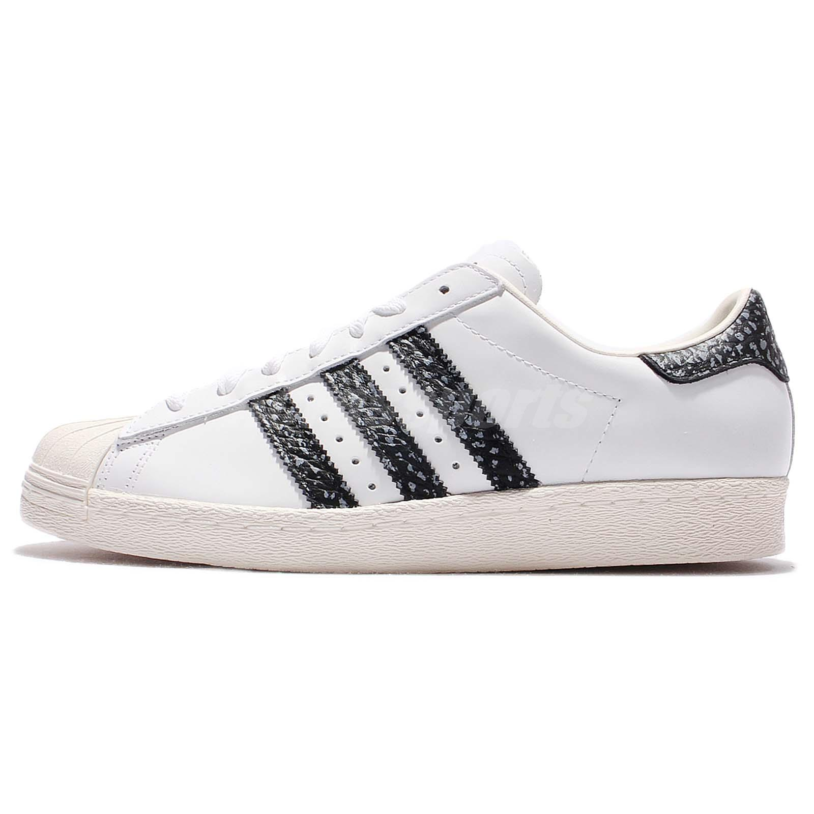 ... adidas originals superstar 80s white black snakeskin men classic shoes  s75847