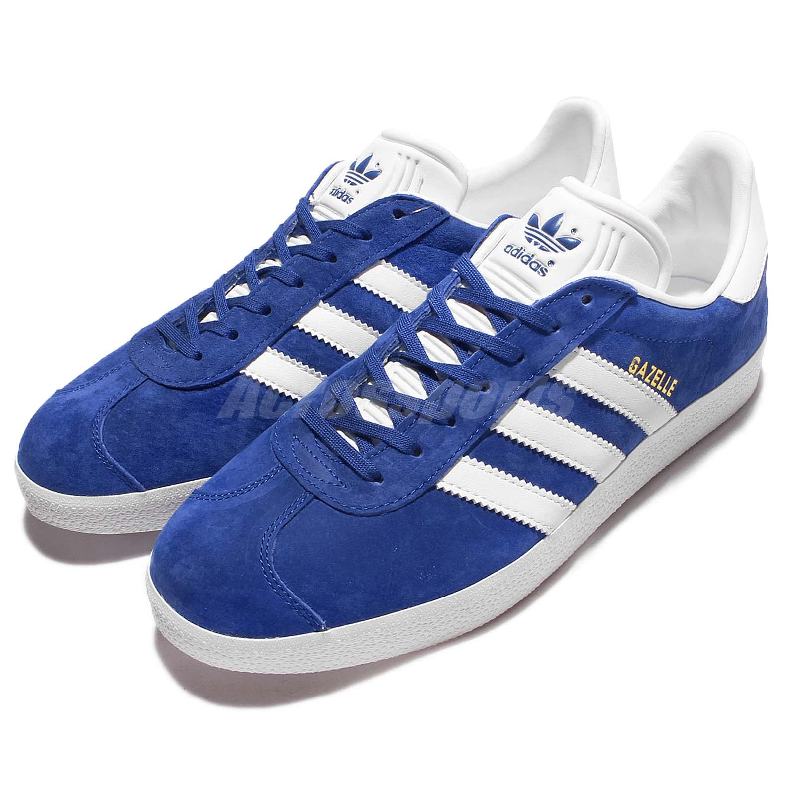 Adidas Originals Gazelle Blue White Mens Vintage Shoes