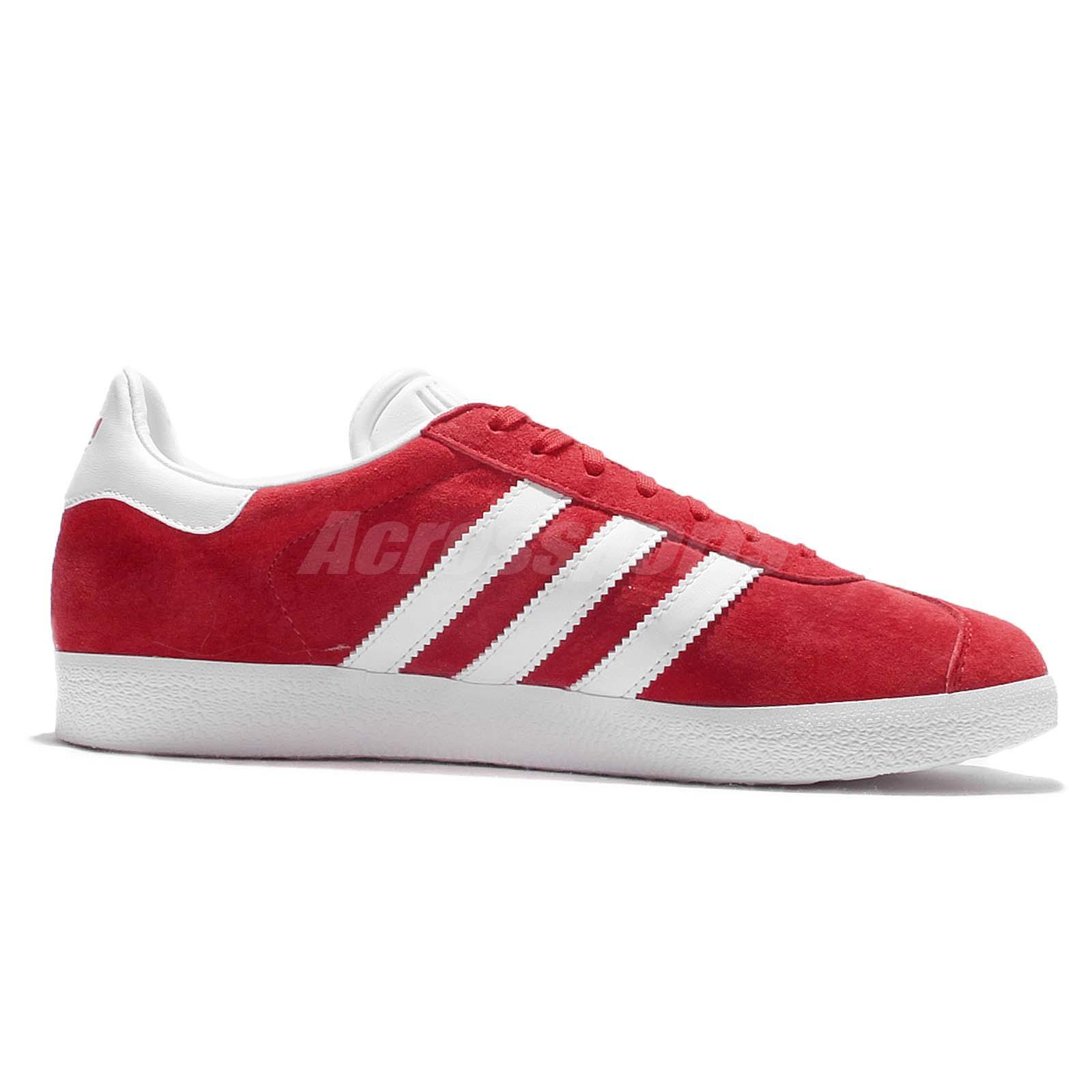 32a628d37ed adidas Originals Gazalle Red White Mens Vintage Shoes Classic ...