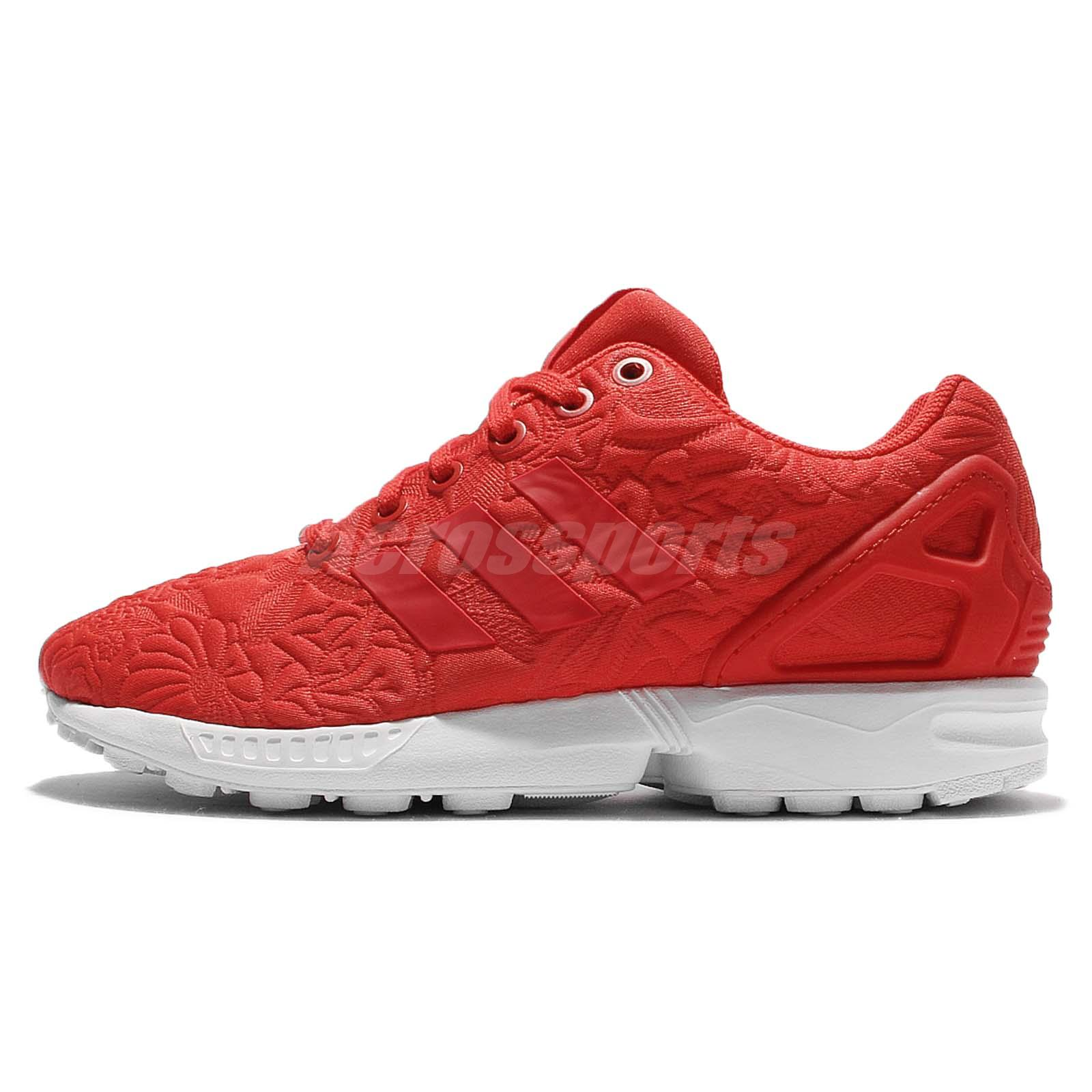 adidas originals zx flux all red