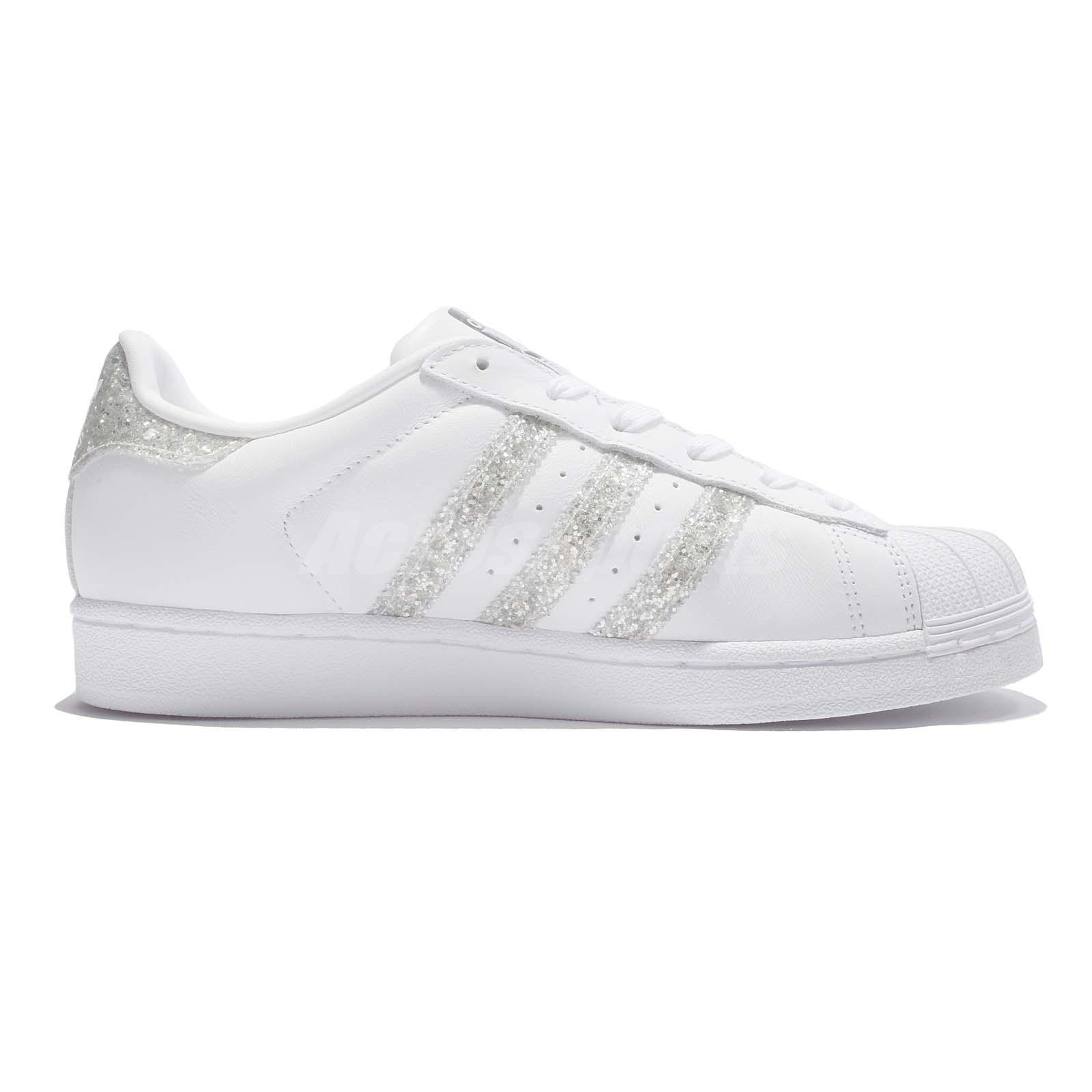 adidas originals superstar womens white glitter