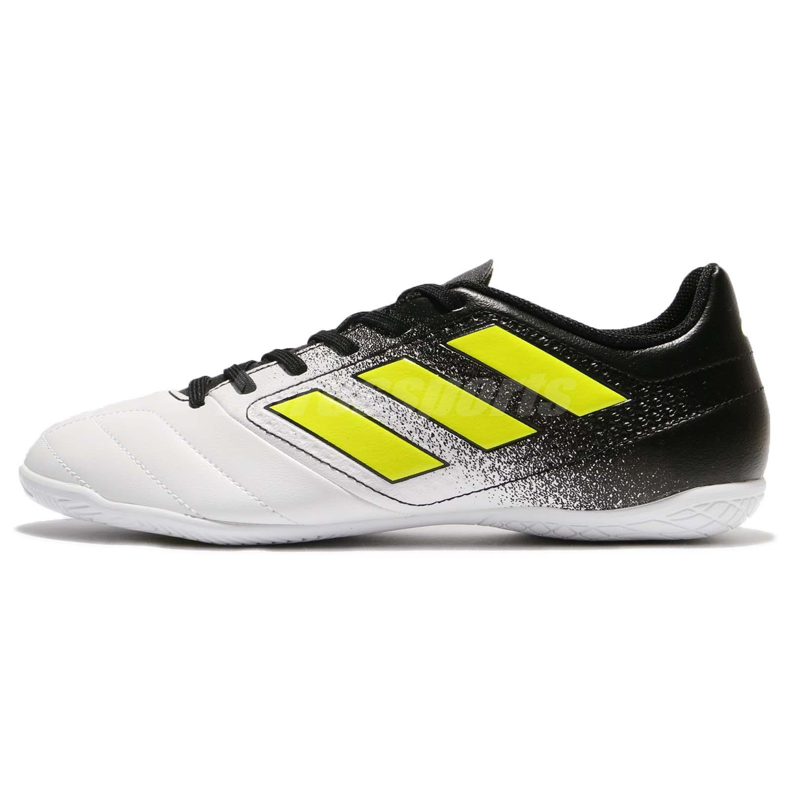 adidas Ace 17.4 In Indoor White Yellow Black Men Soccer Football Shoes  S77100