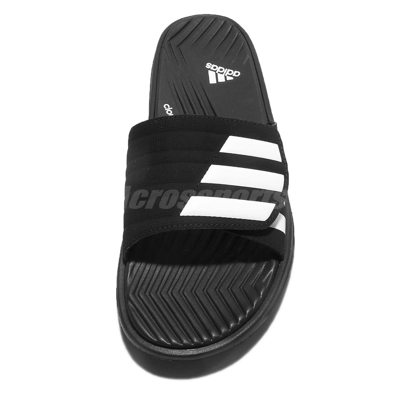 549af54f7775 2018 adidas Izamo CF Black White Men Sandal Slides Slippers S77989 ...