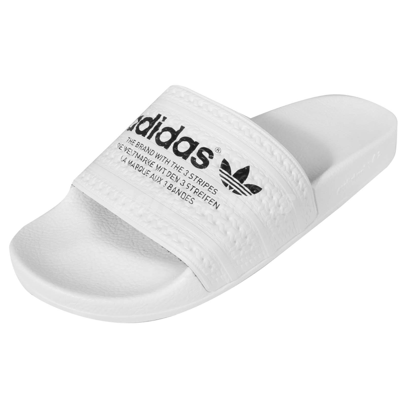 adidas Originals Adilette White Black Mens Sandal Slides Slippers S78688 | eBay