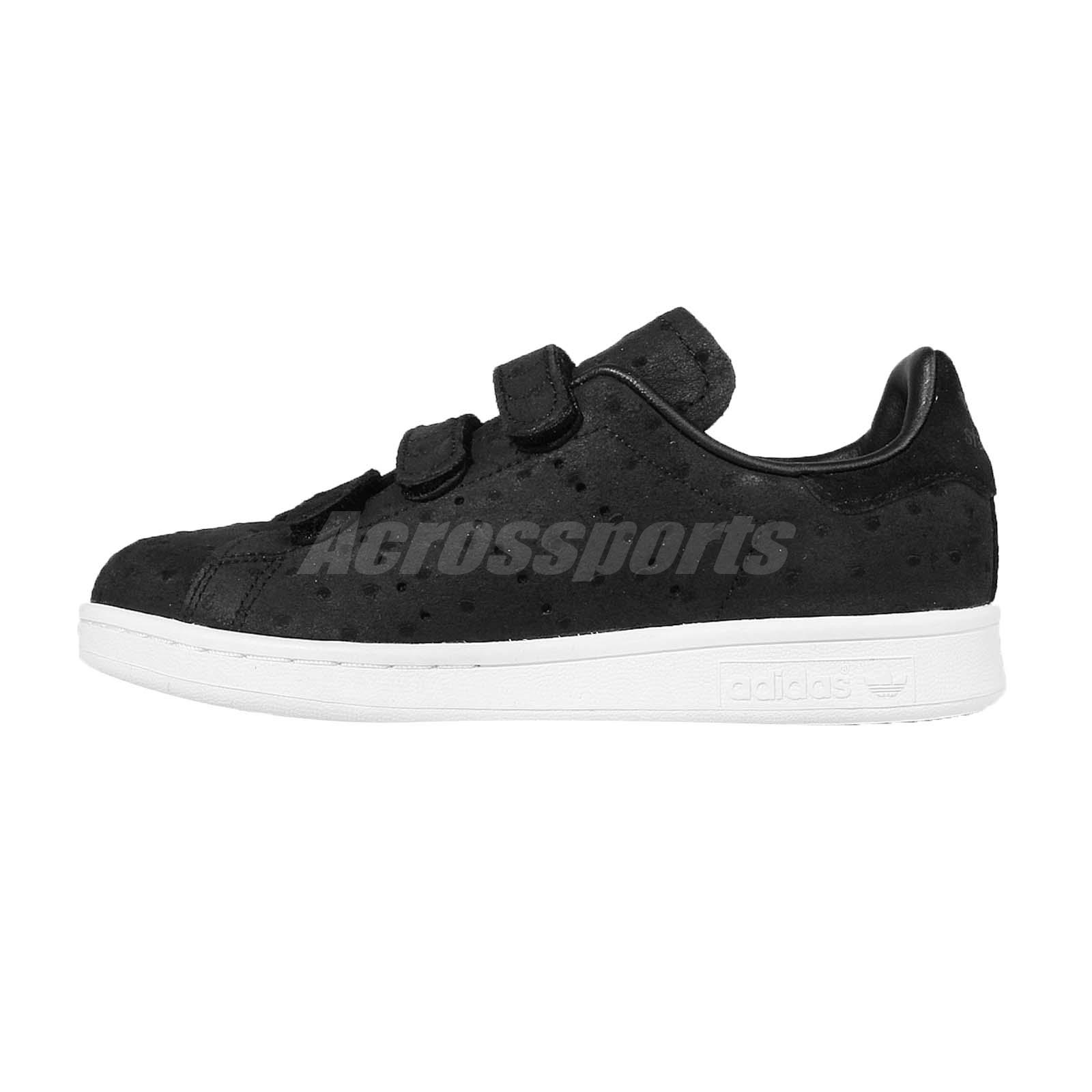 adidas originals stan smith cf w black white womens classic shoe sneakers s78905 ebay. Black Bedroom Furniture Sets. Home Design Ideas