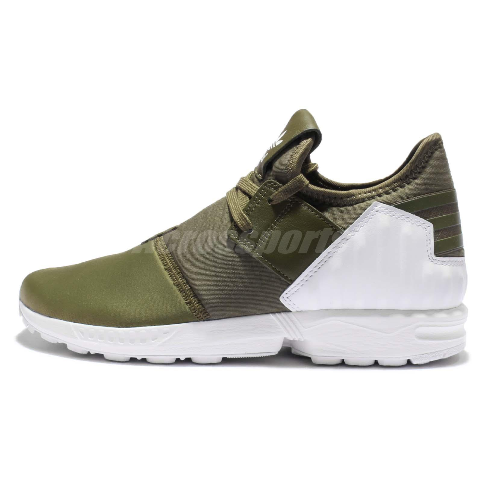 adidas Originals ZX Flux Plus Olive Green Mens Trainers Bootee Style S79062
