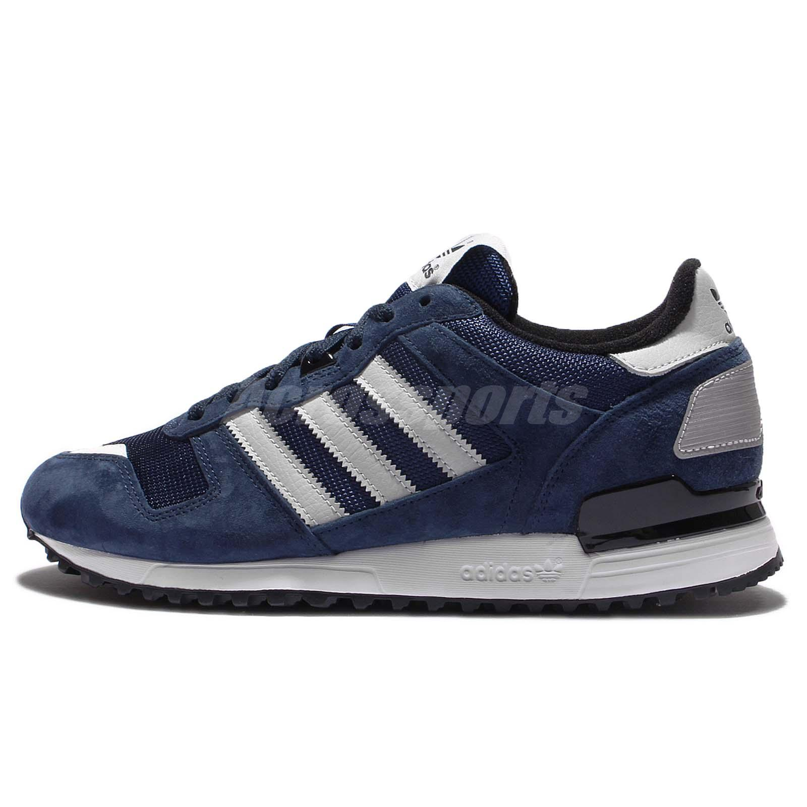 09323a0e4 More pictures Size Chart adidas Originals ZX 700 Navy White Grey Men  Running Trainers Sneakers S79182 ...
