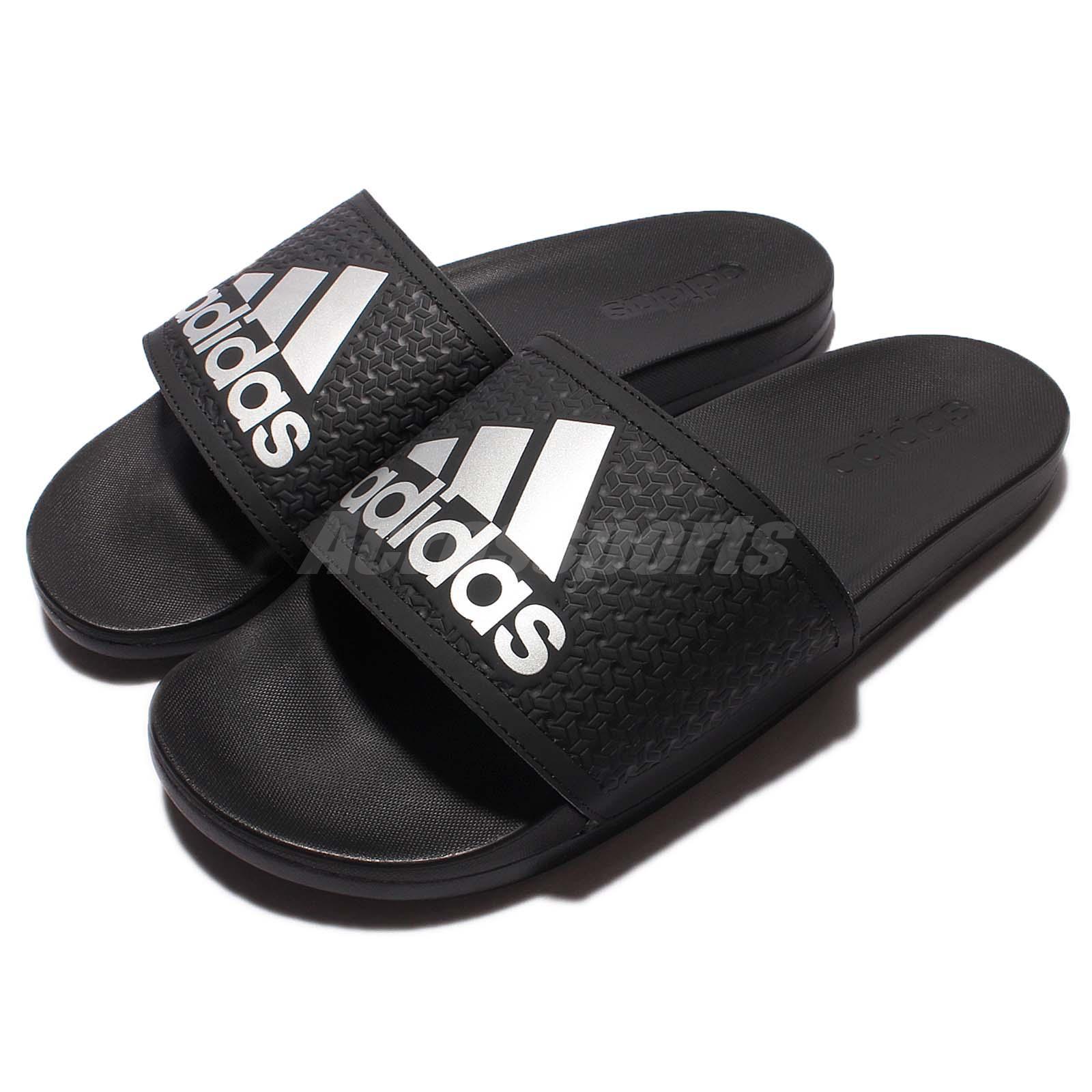 f3a89d516863 Details about adidas Adilette CF C Comfort Black Silver Men Sports Sandal  Slide S79352