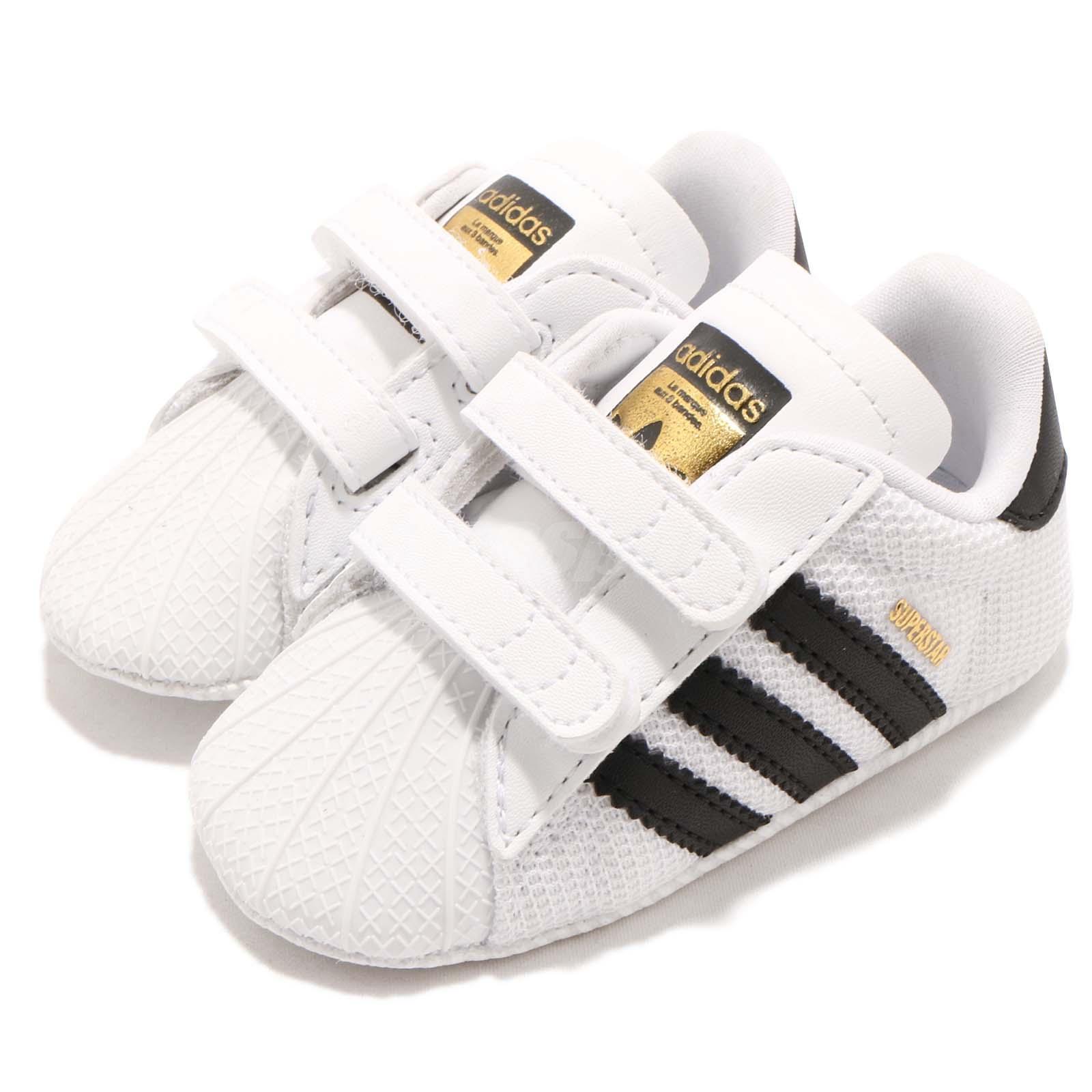 33f81c5802d Details about adidas Originals Superstar CRIB White Black TD Toddler Infant  Baby Shoes S79916