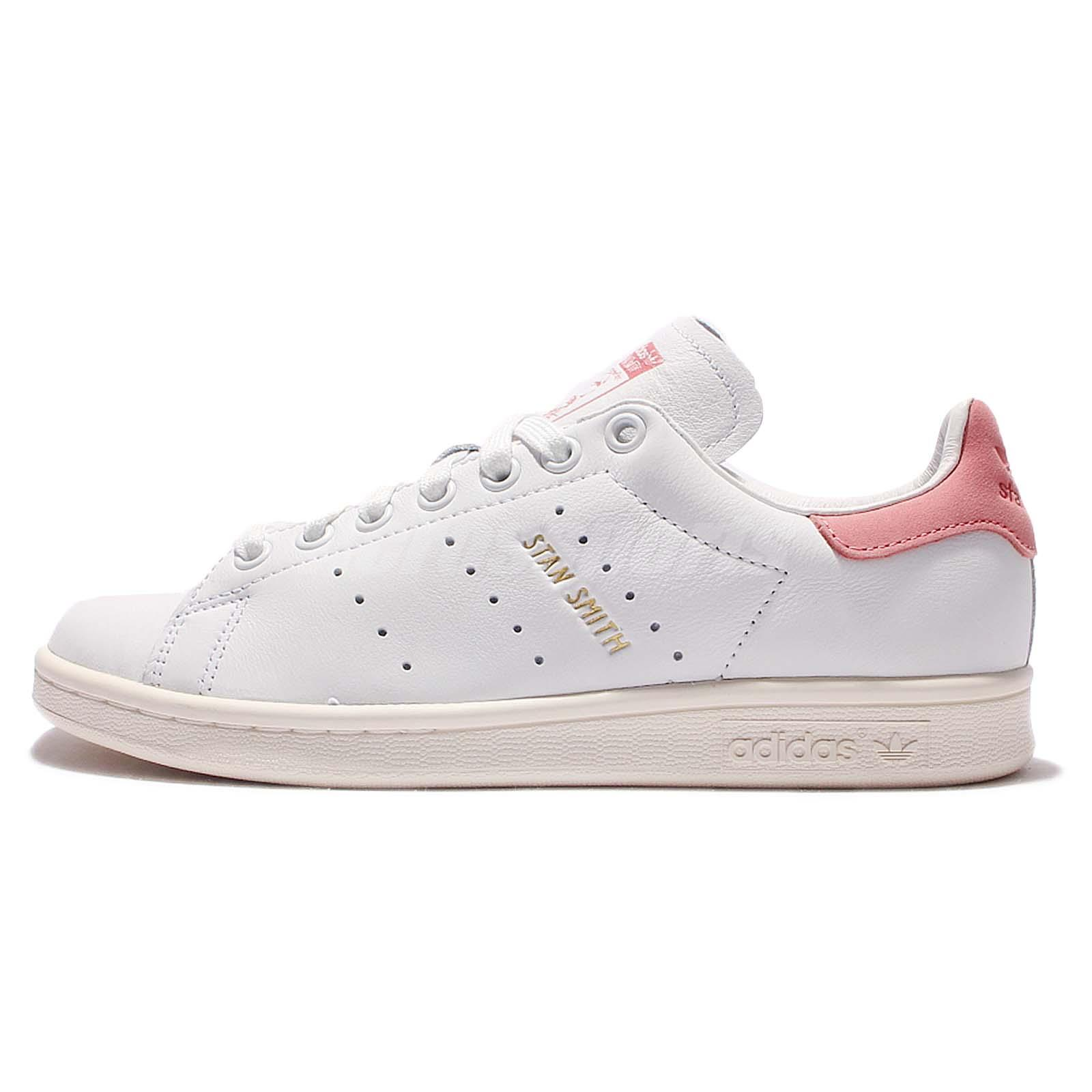 adidas originals stan smith leather white pink mens casual. Black Bedroom Furniture Sets. Home Design Ideas