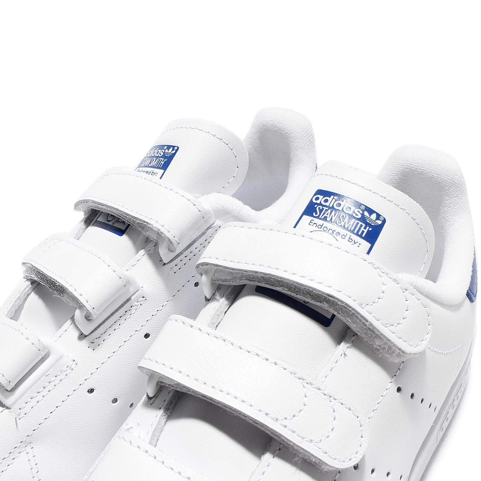 on sale b9b0b c7d1d adidas Originals Stan Smith CF White Blue Leather Men Classic Shoes ...