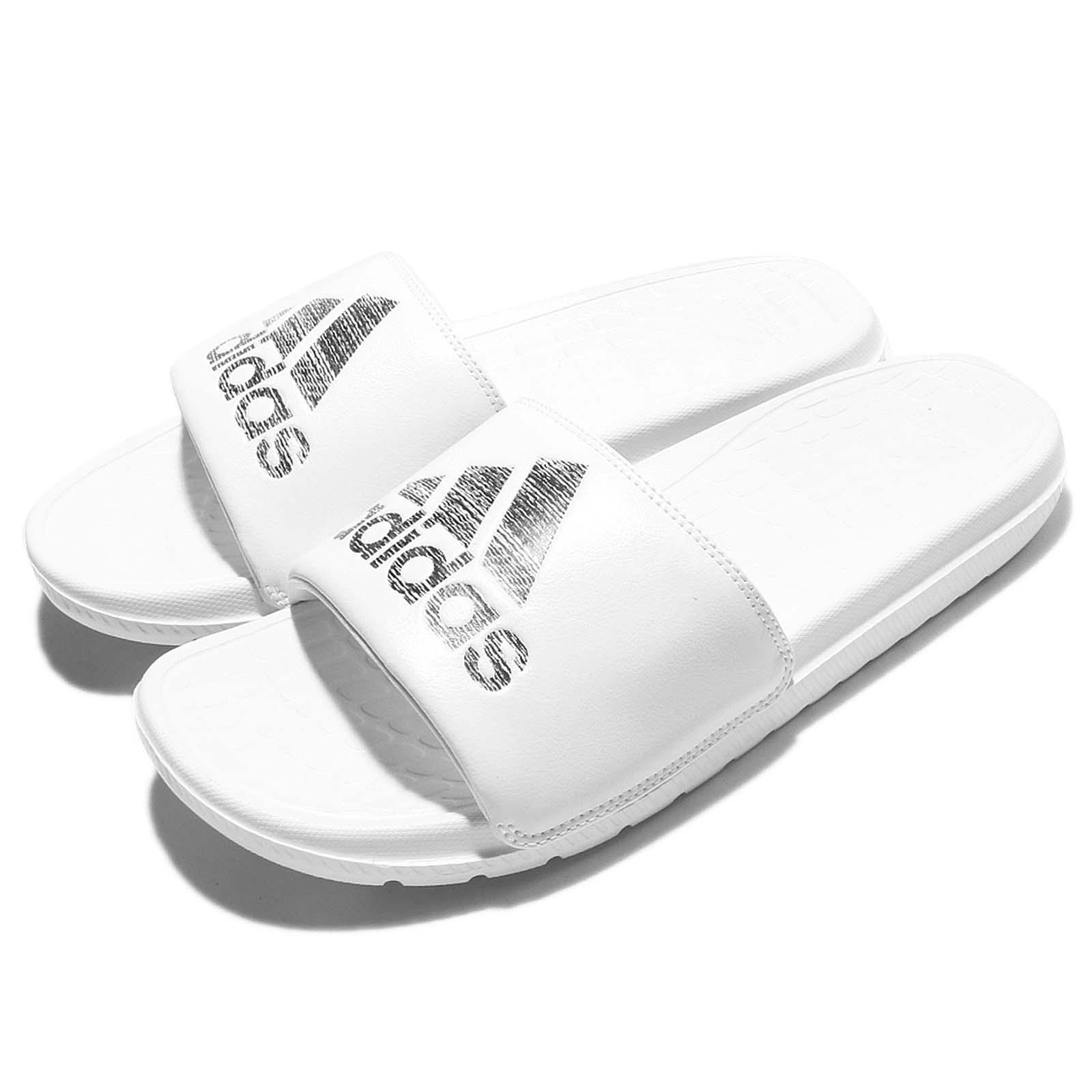 hot sale online e50e6 dae5e Details about adidas Voloomix White Black Men Sandal Slippers Slides S80406