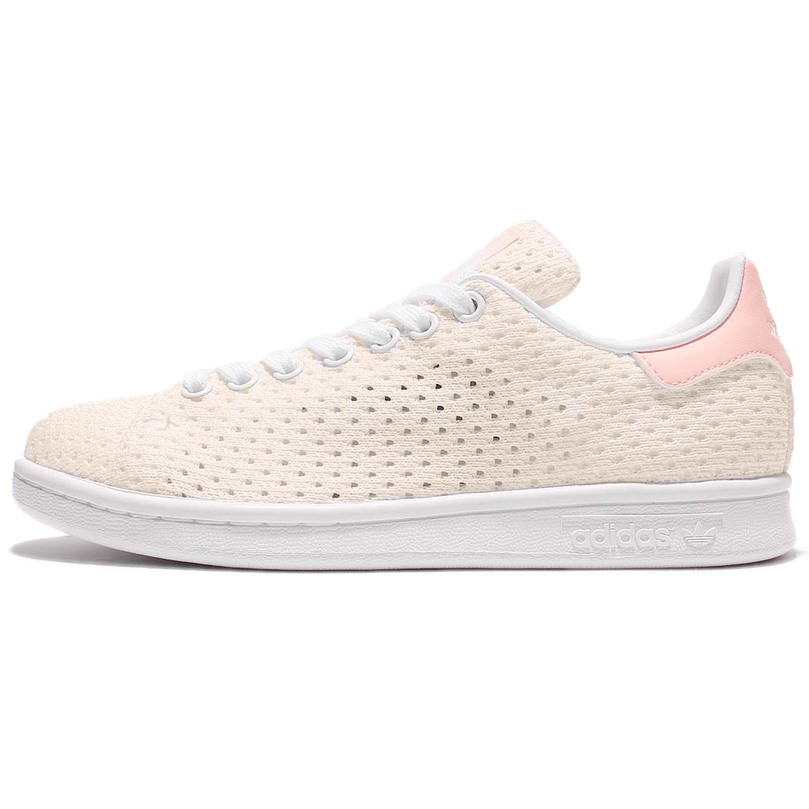 adidas Originals Stan Smith W Mesh White Pink Classic Women Casual Shoes  S82256
