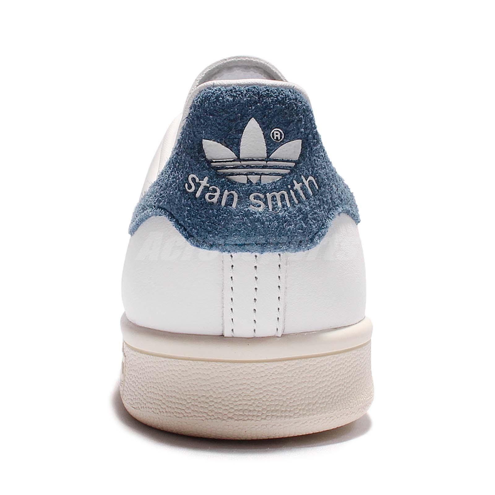 adidas originals stan smith w leather white blue women classic shoes s82259 ebay. Black Bedroom Furniture Sets. Home Design Ideas