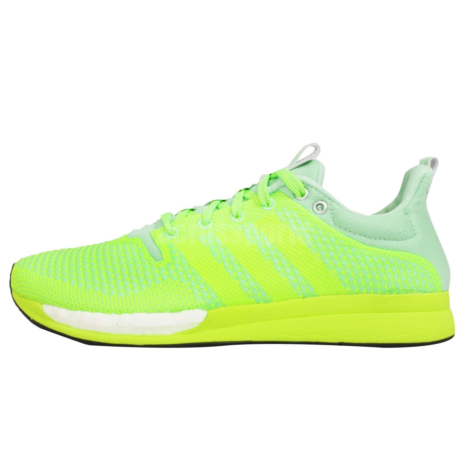 Adidas Adizero Feather Boost W Green Yellow Womens Running